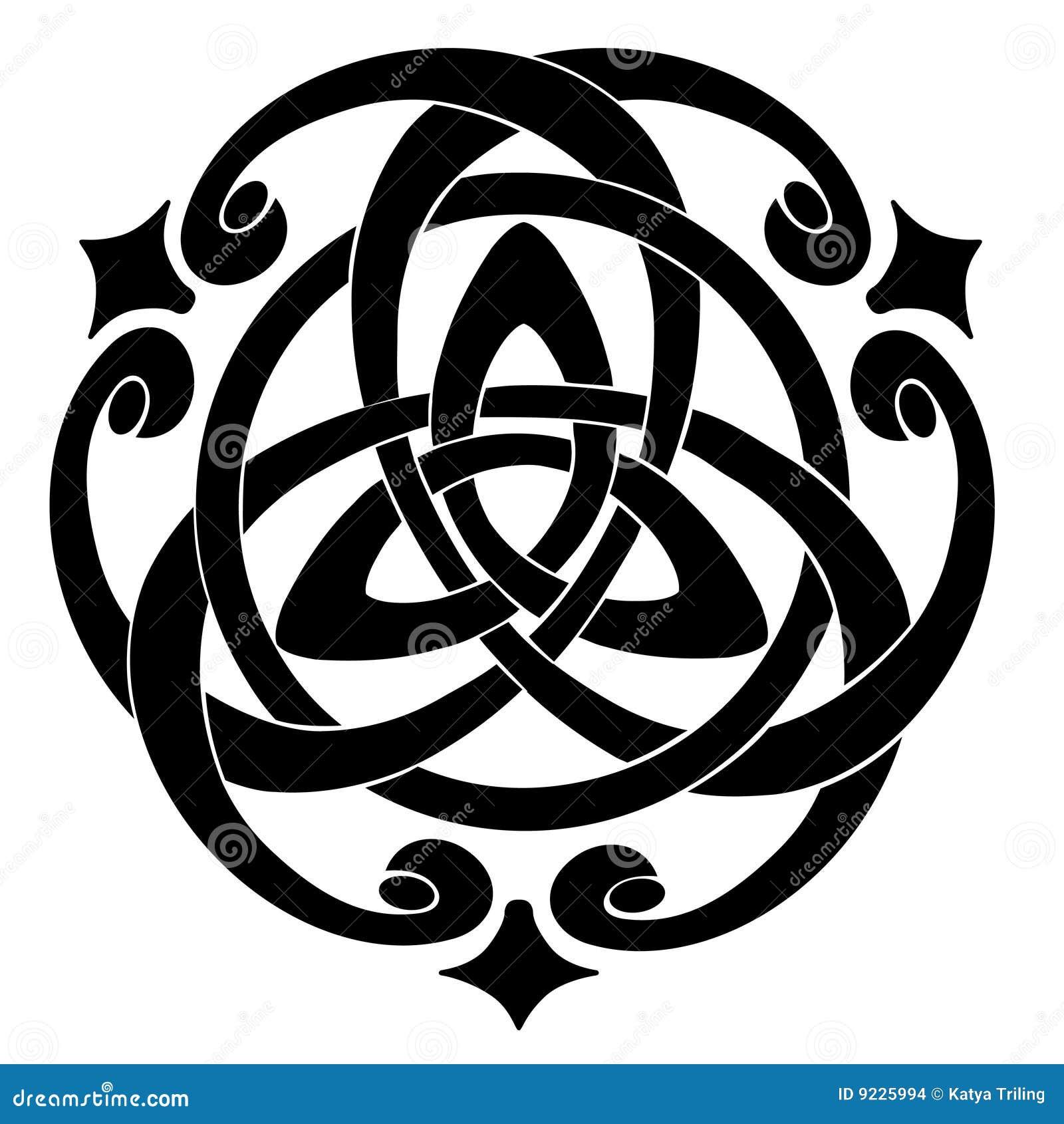 Dessin Celtique motif celtique de noeud illustration de vecteur. illustration du