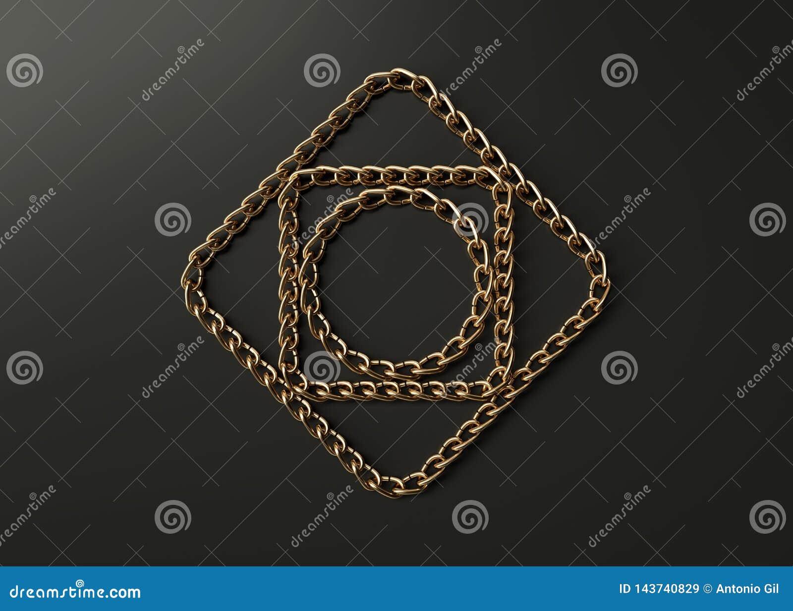 Motif de chaînes d or
