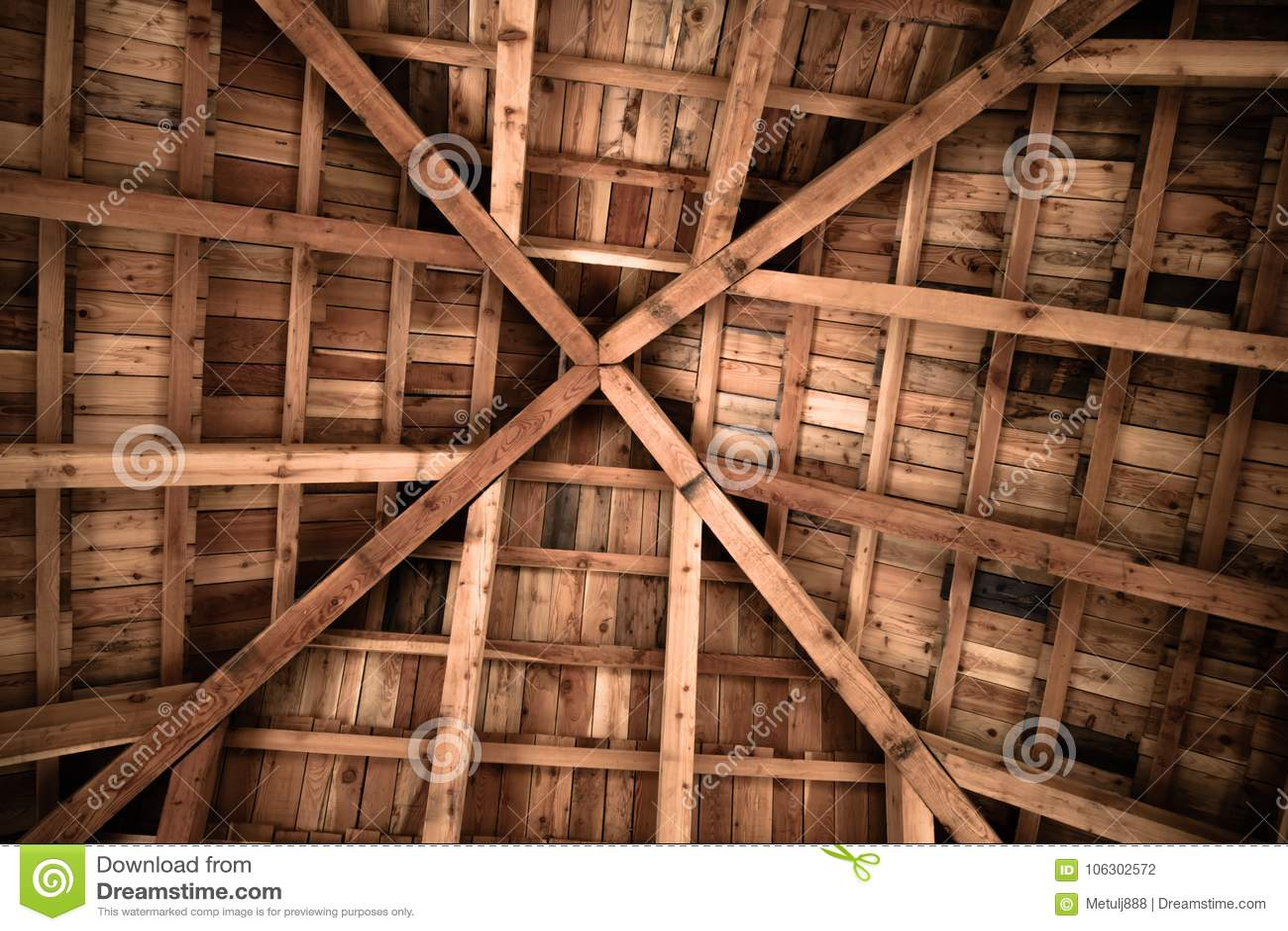 Motif en bois de texture de conception de structure de plafond