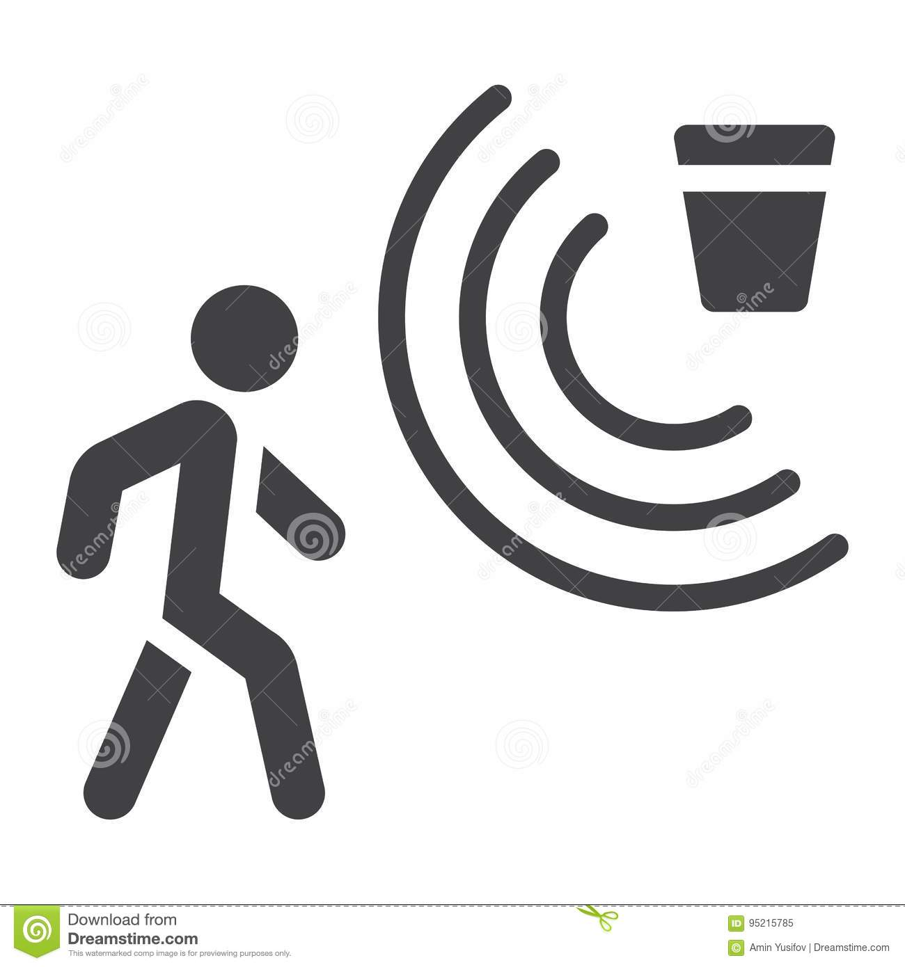 Stock Illustration Motion Detector Solid Icon Security Guard Vector Graphics Glyph Pattern White Background Eps Image95215785 on motion sensor alarm