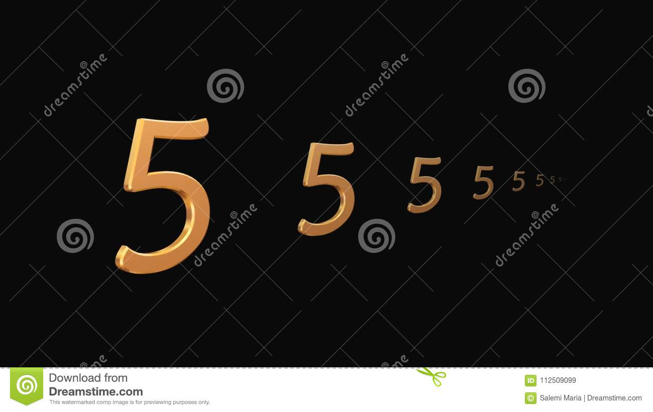 A Motion Graphic Of A 10 Second Countdown Timer Stock Video - Video