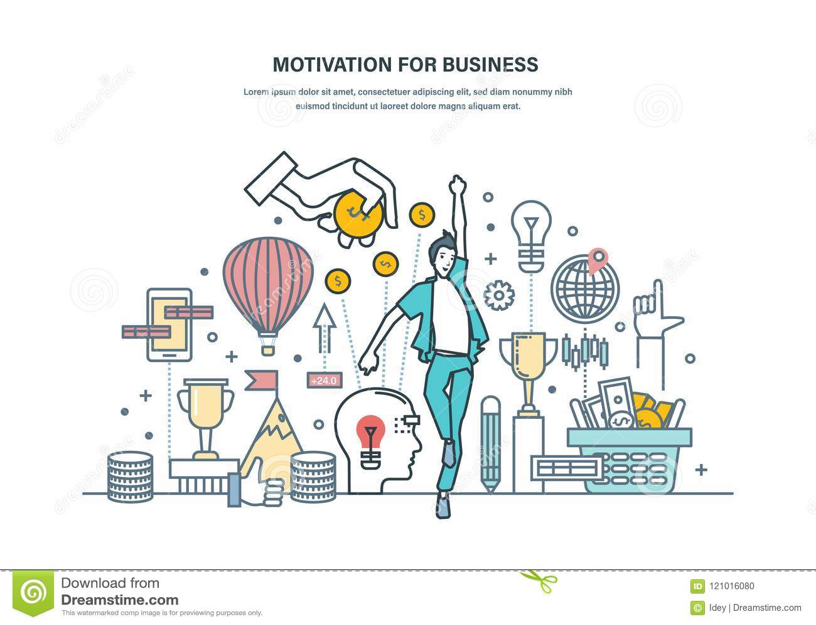 Motivatie voor Zaken Voltooiing van hoge doelstellingen, zelf-verbetering, de carrièregroei