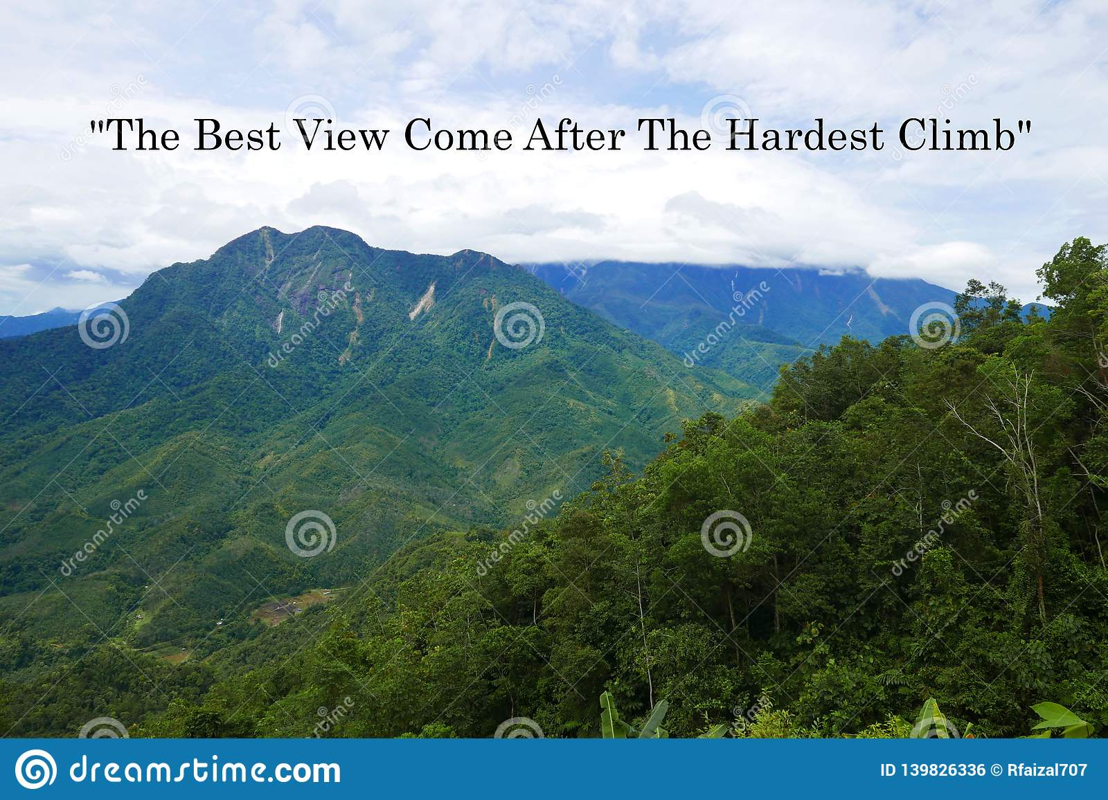 motivation quote the best view come after the hardest climb