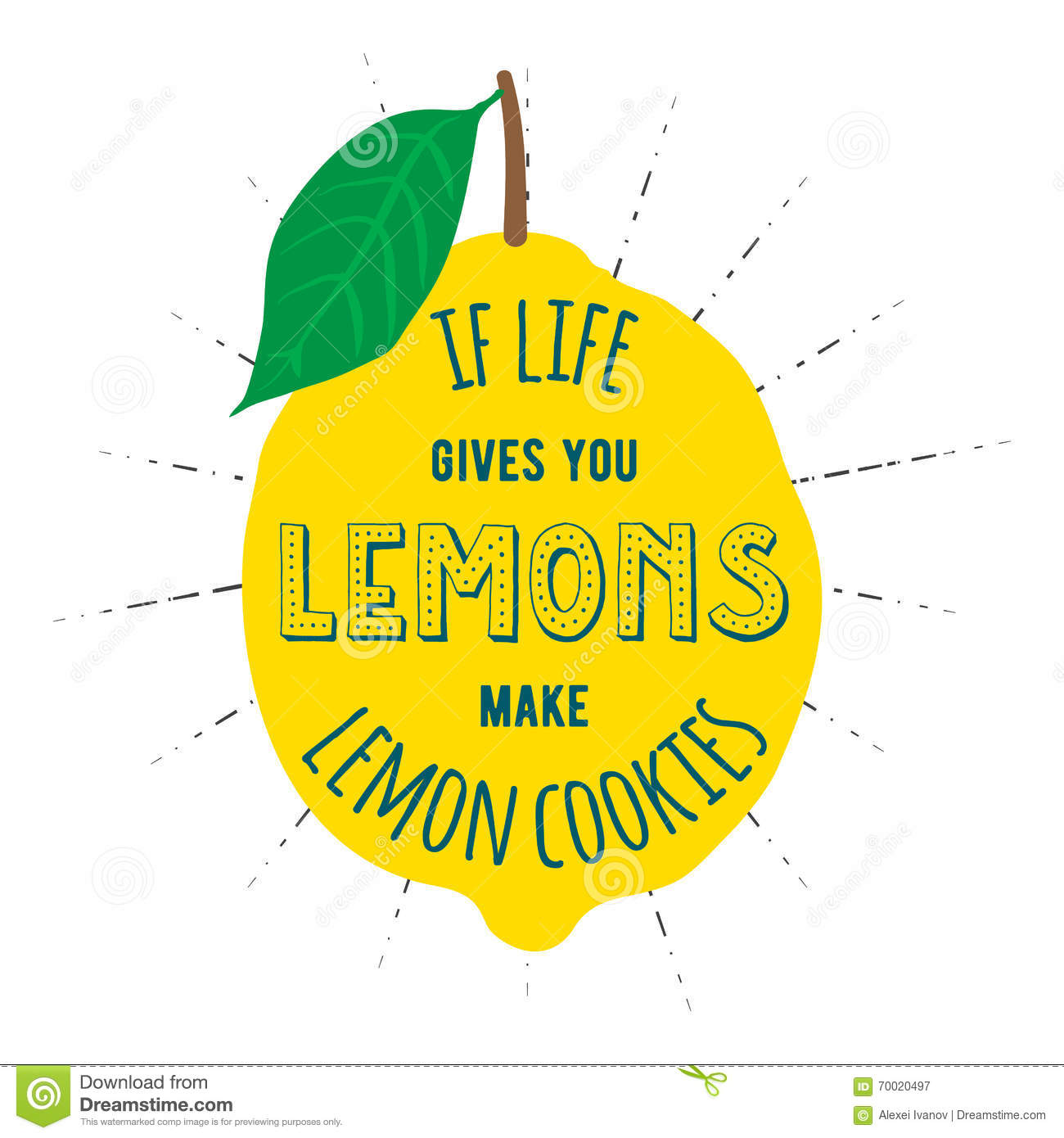 Motivation Quote Lemons Stock Vector Illustration Of Graphic 70020497