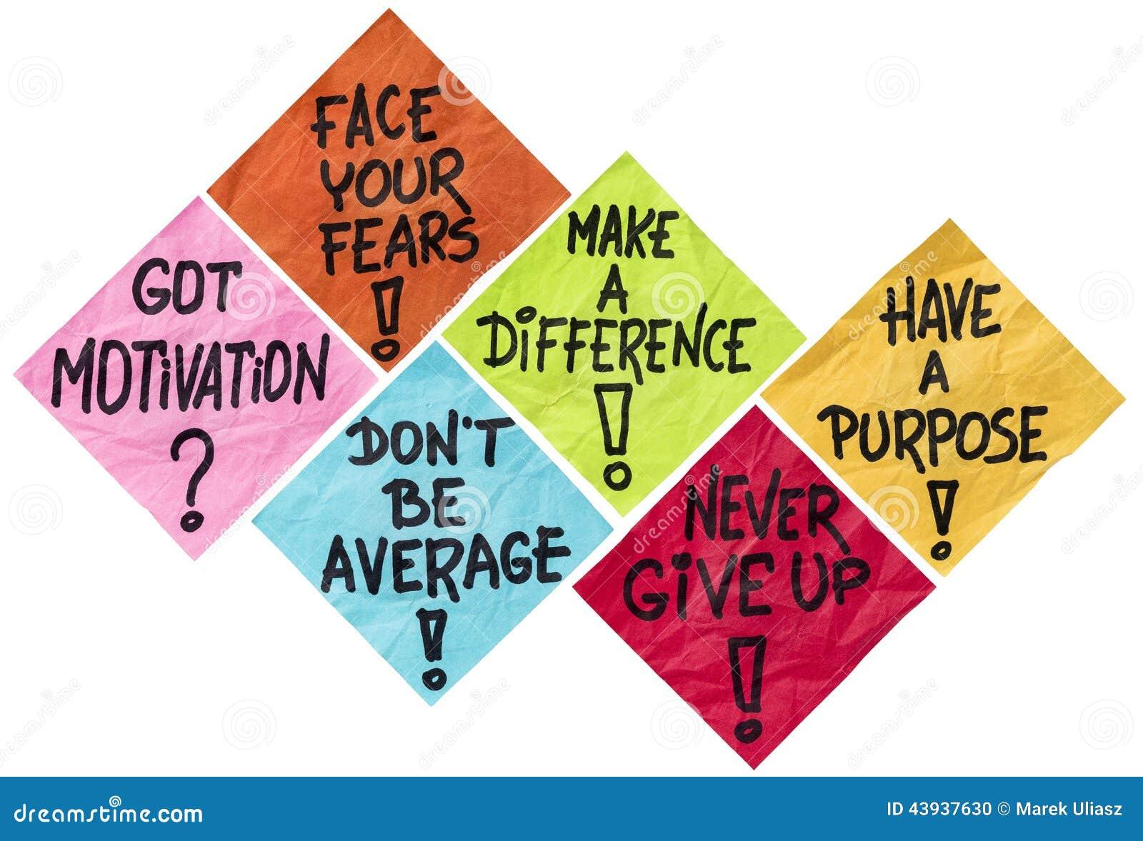 Motivation reminder notes