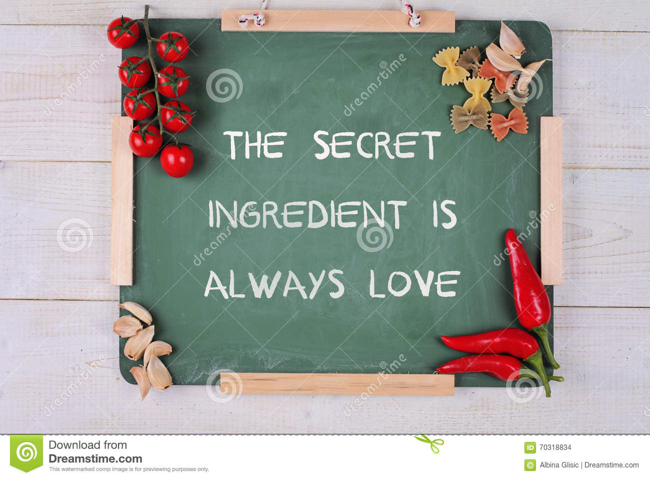Quote Cooking With Love Vector Illustration
