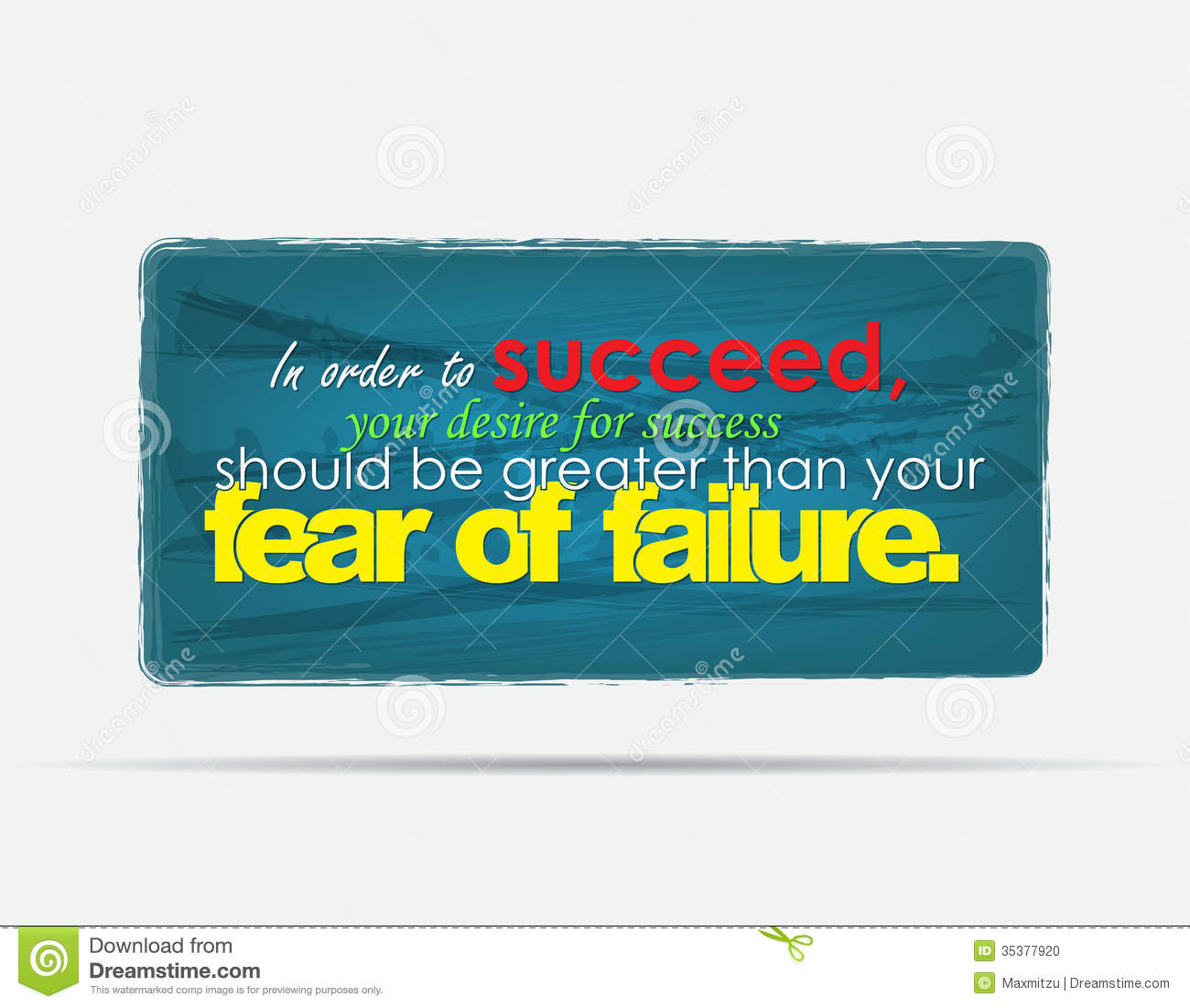Inspirational Quotes About Failure: Motivational Background Stock Photo