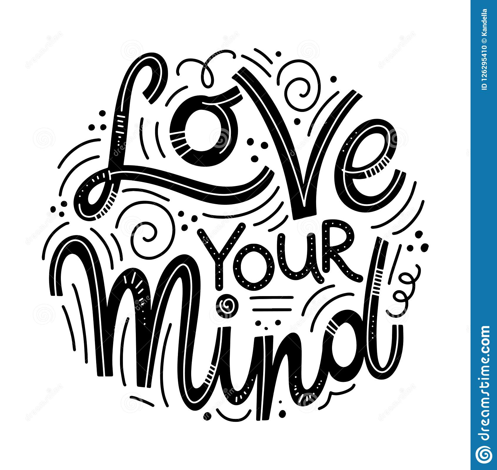 Download Inspirational Quotes For Mental Health Day Stock Vector