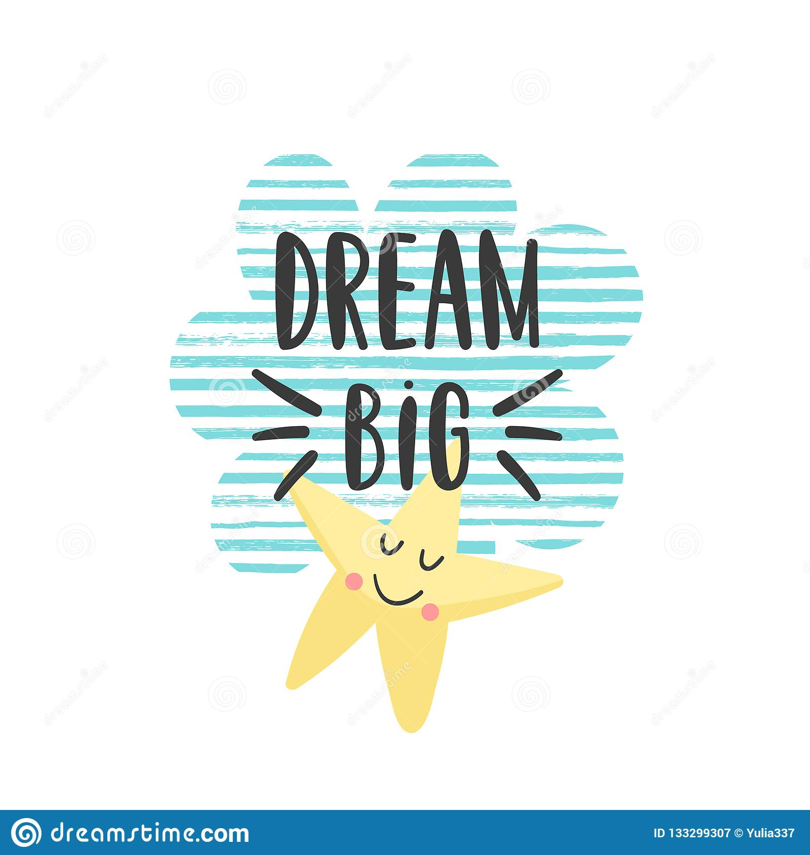 Motivational Quote For Kids Stock Vector - Illustration of ...