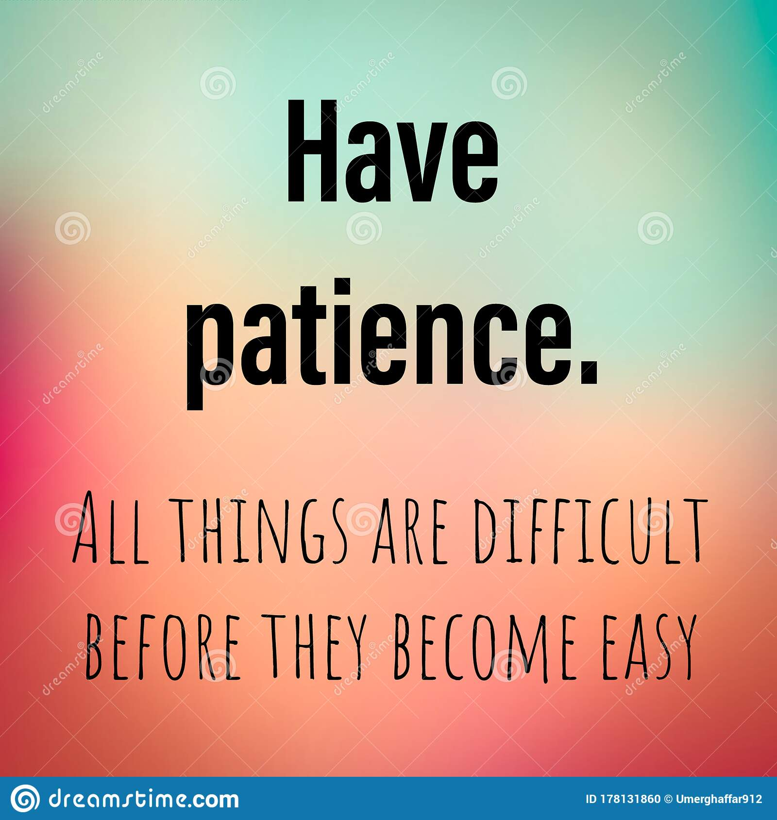 Motivational Quote About Patience In Life Stock Illustration Illustration Of Patience Facebook 178131860