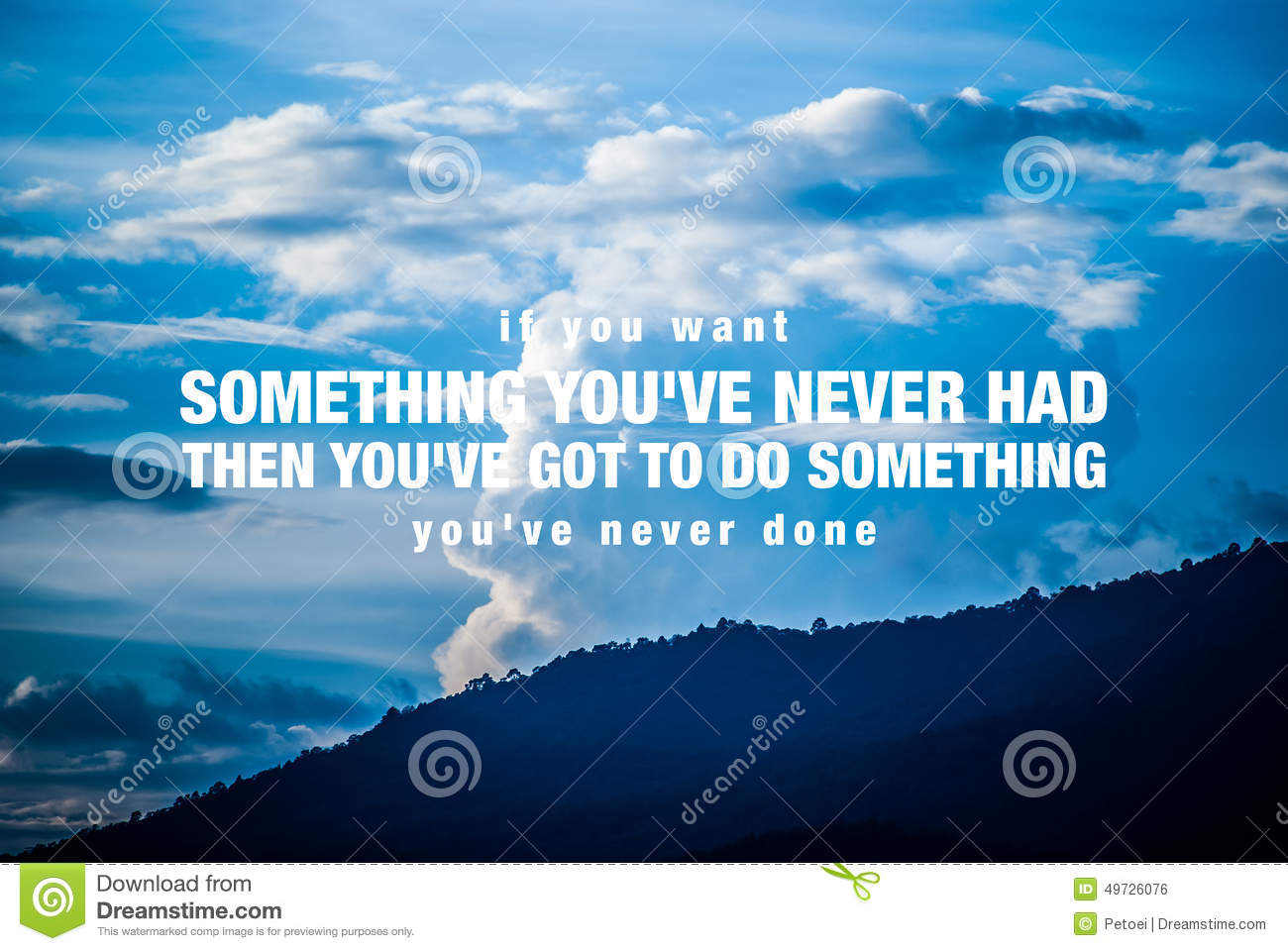 Motivational Quote Poster Stock Photo. Image Of Positive