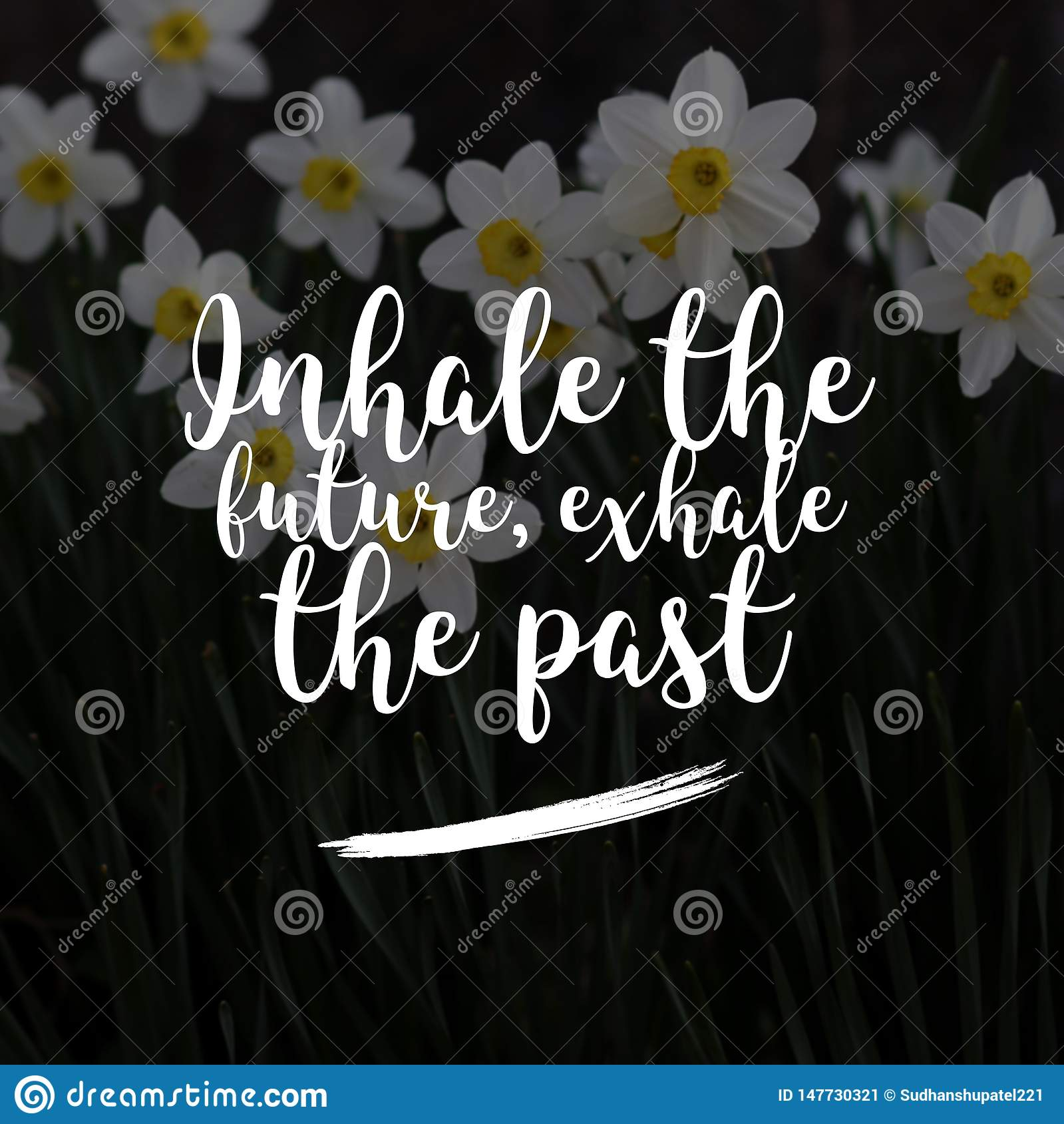 Motivational quotes for life and success. Inhale the future, exhale the past.