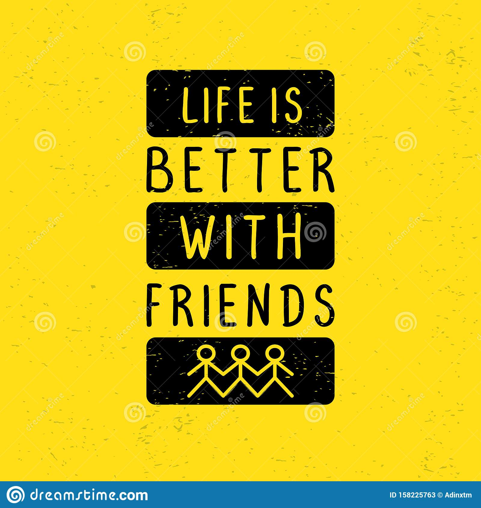 motivational quotes poster life is better friends