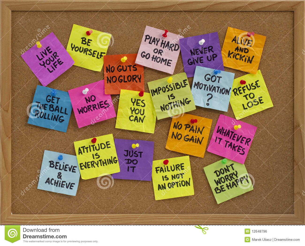 Royalty Free Stock Image Motivational Reminders Bulletin Board Image12648796 on Leader In Me Bulletin Board