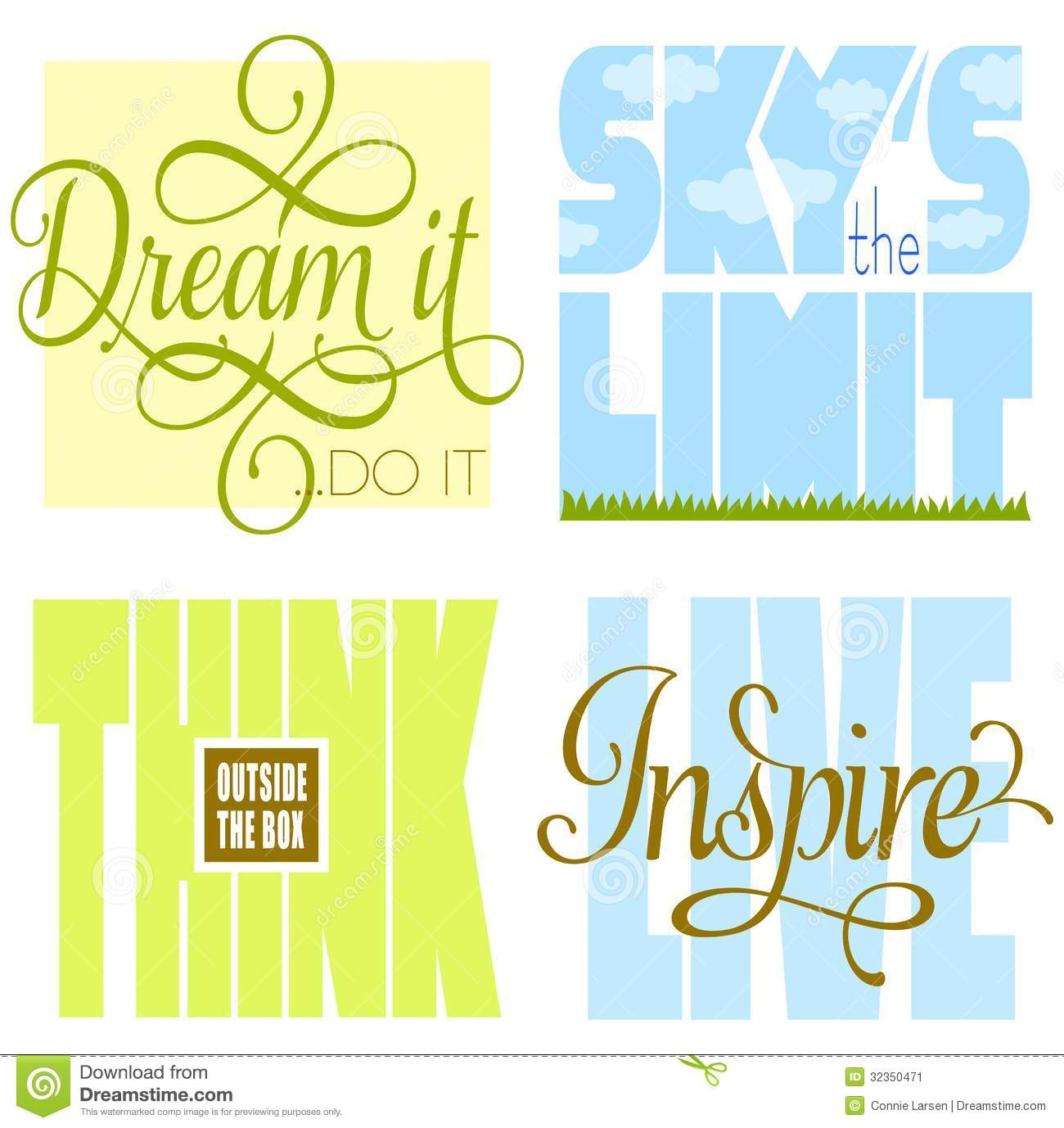Inspirational Phrases Motivational Sayings Stock Illustrationimage Of Clipart  32350471