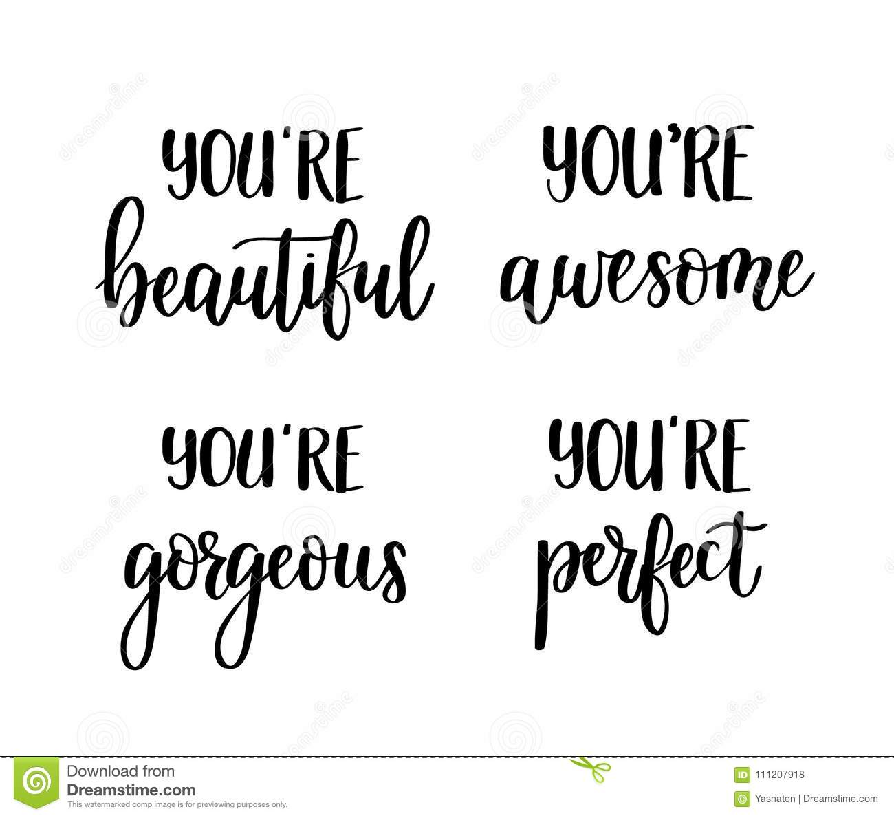 Motivational Vector Lettering Quotes. You Are Awesome ...