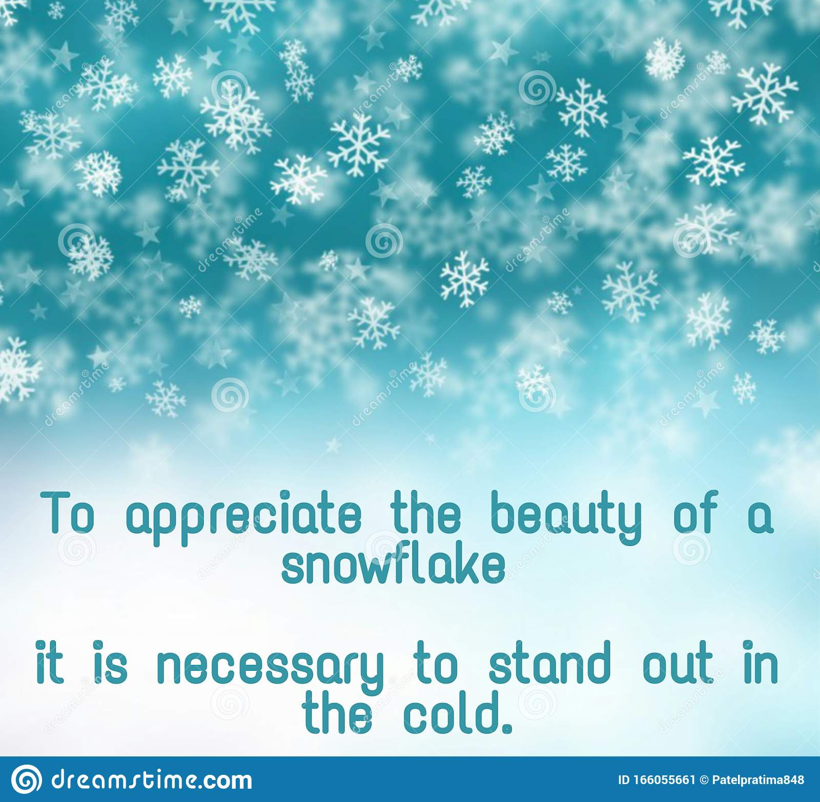Motivational Winter Quotes Written On Abstract Background