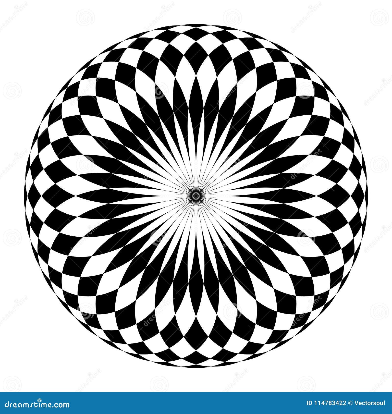 Disegni Geometrici Bianco E Nero motivo circolare astratto, mandala geometrica in bianco e