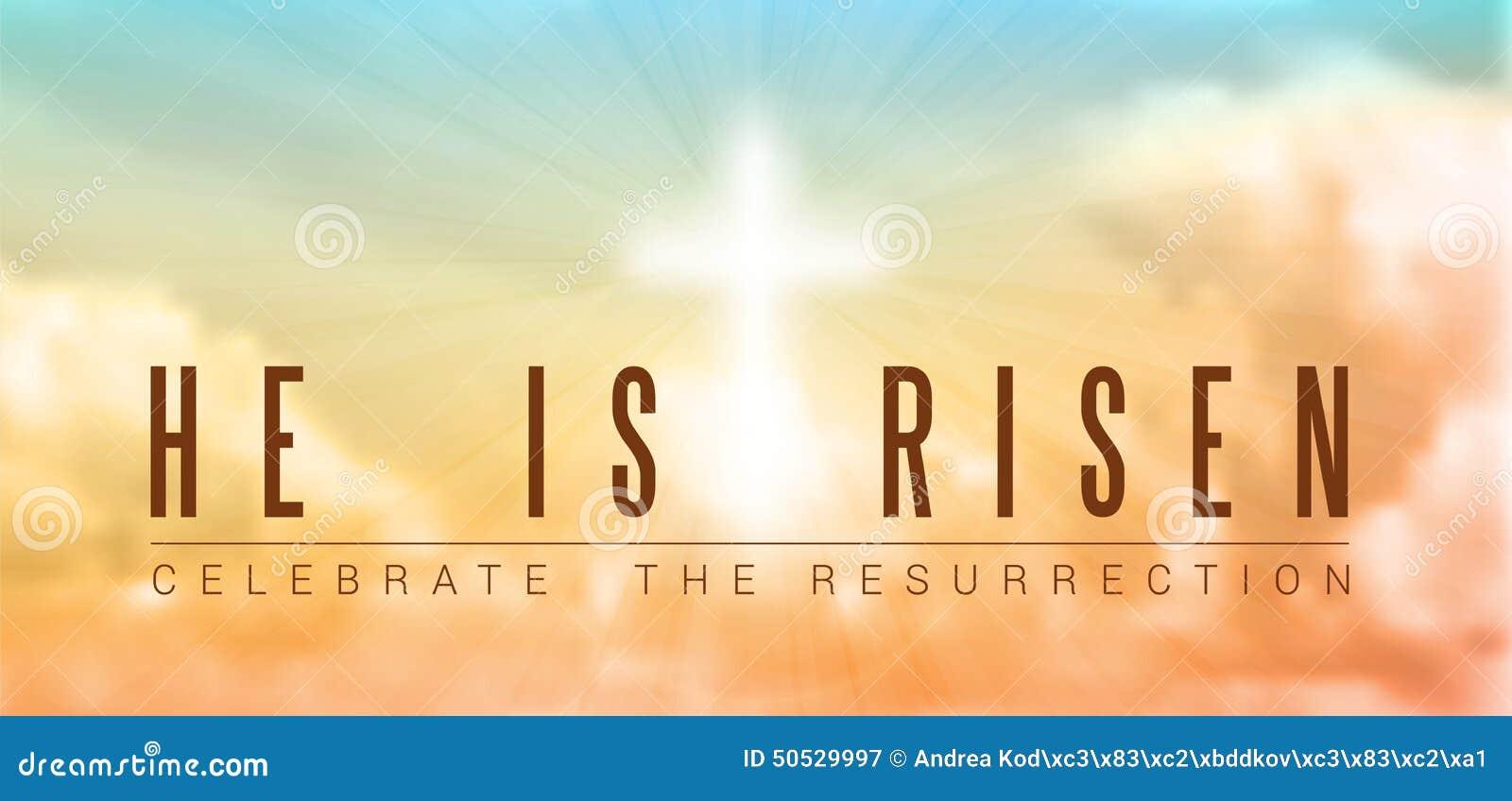 Motivo Cristiano De Pascua Resurrección Ilustración Del Vector