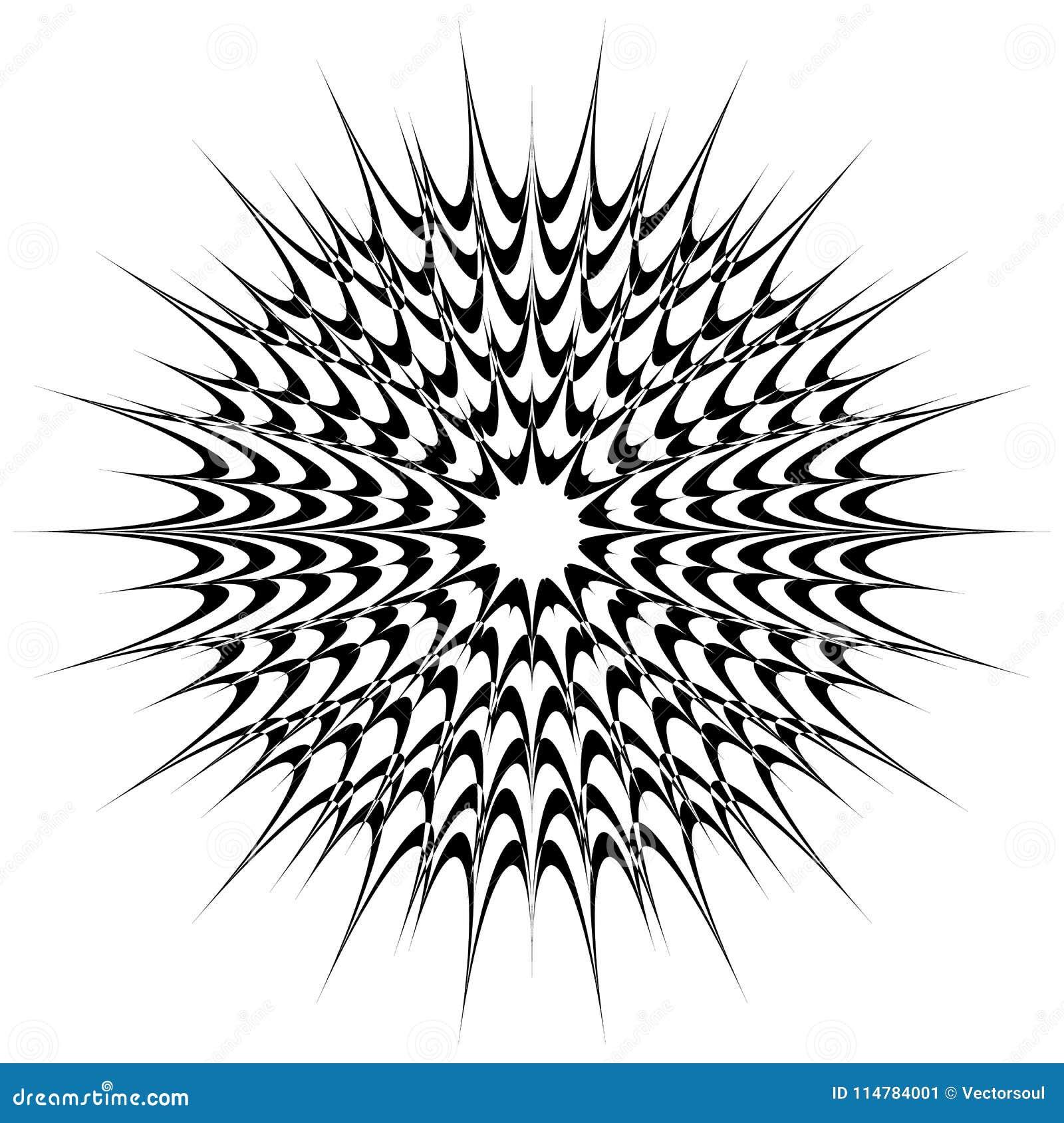 Motivo geometrico circolare, mandala astratta, forma geometrica