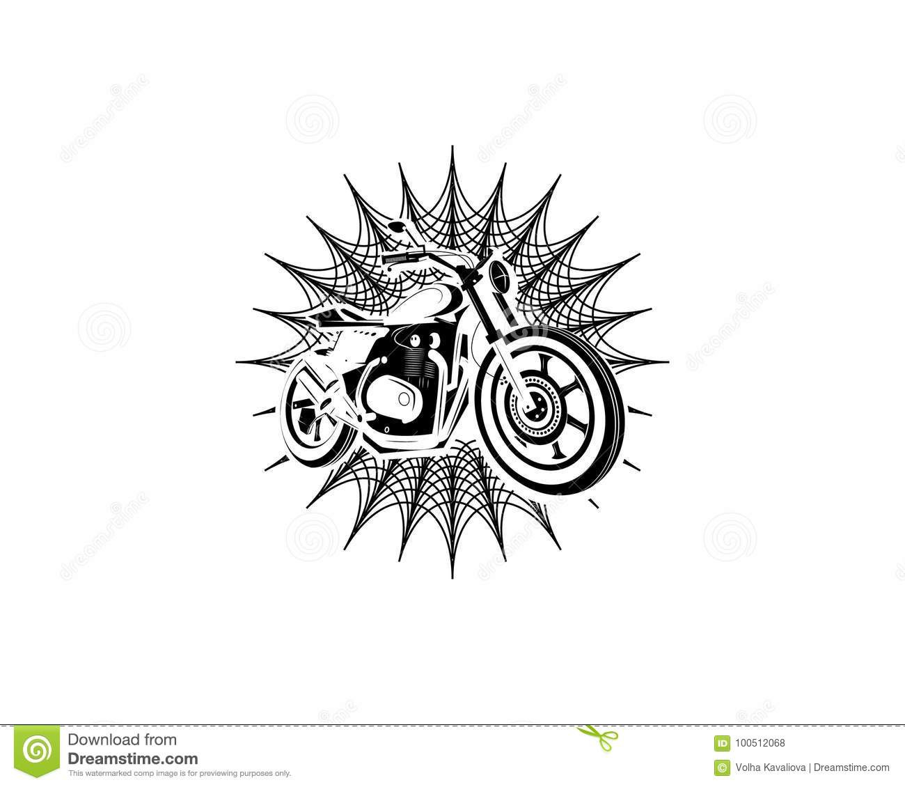 Moto Bike Icon Cafe Racer Stock Vector Illustration Of Icon