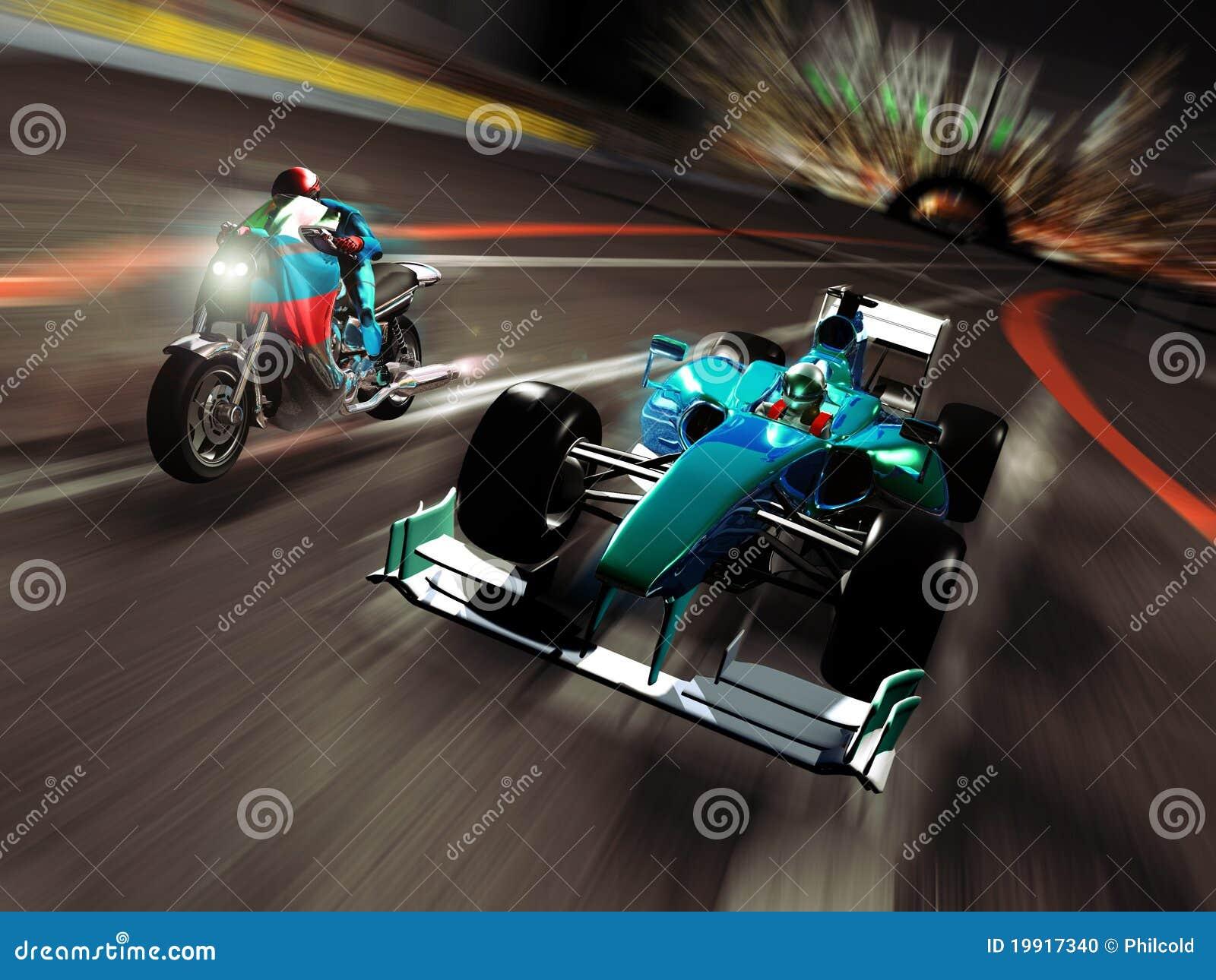 Moto contre le Formule 1