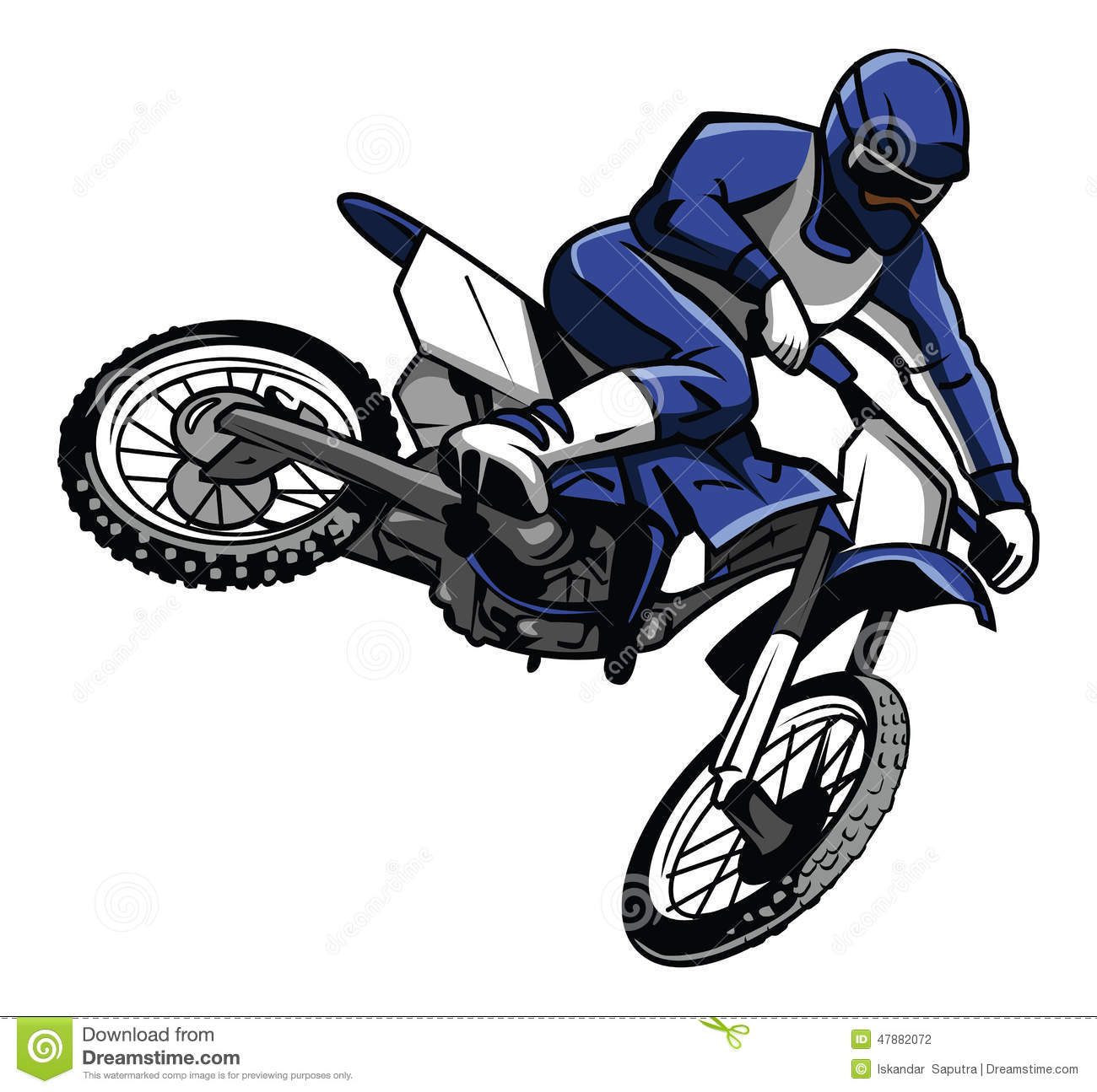 how to stop a motorbike rider