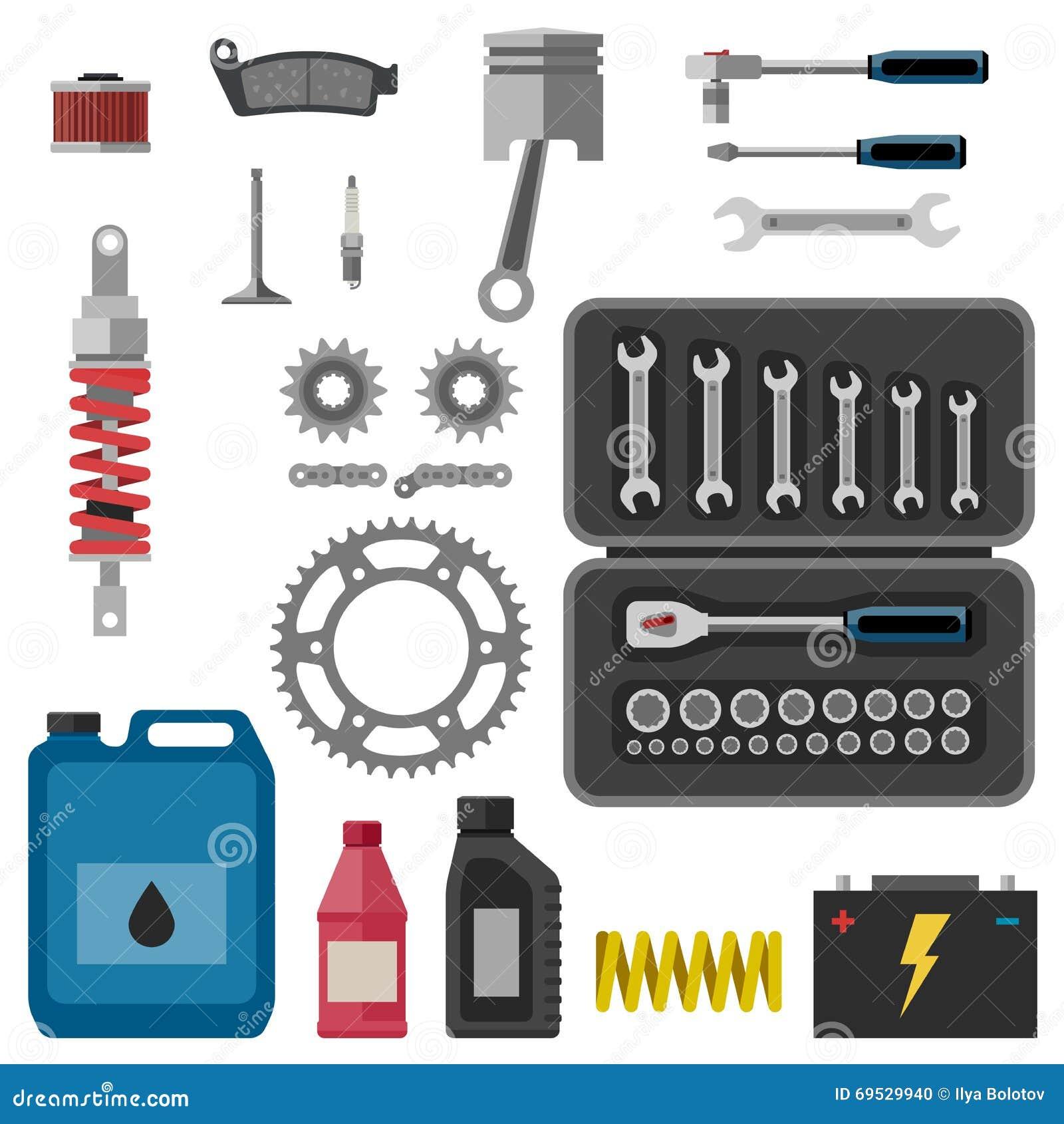 Moto części z narzędziami