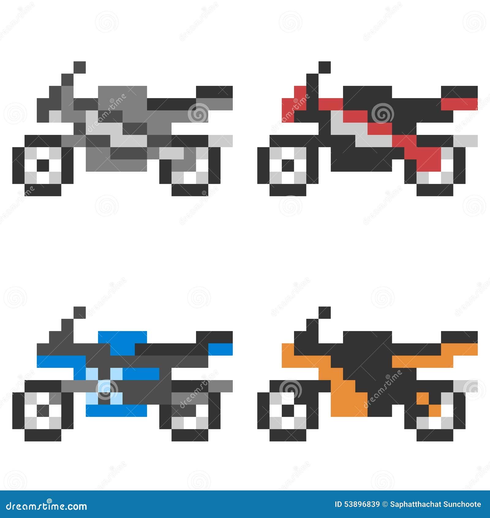 pixel art moto