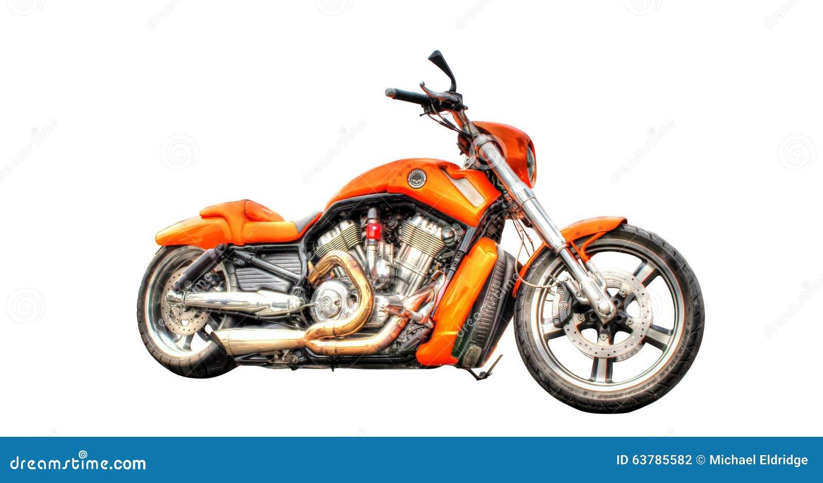 Moto de Harley Davidson d isolement sur un fond blanc
