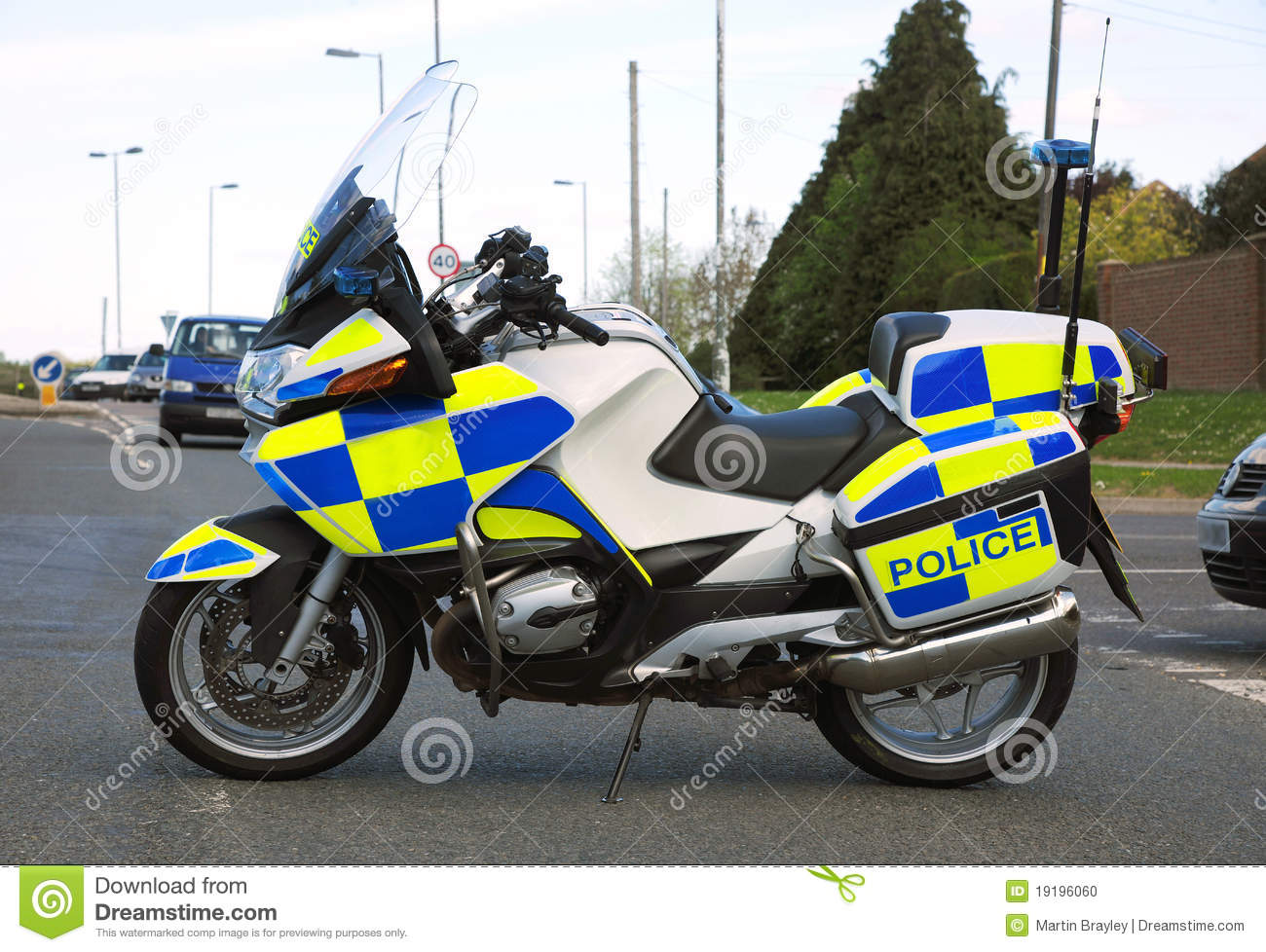 Moto De Police Photo Stock Image 19196060