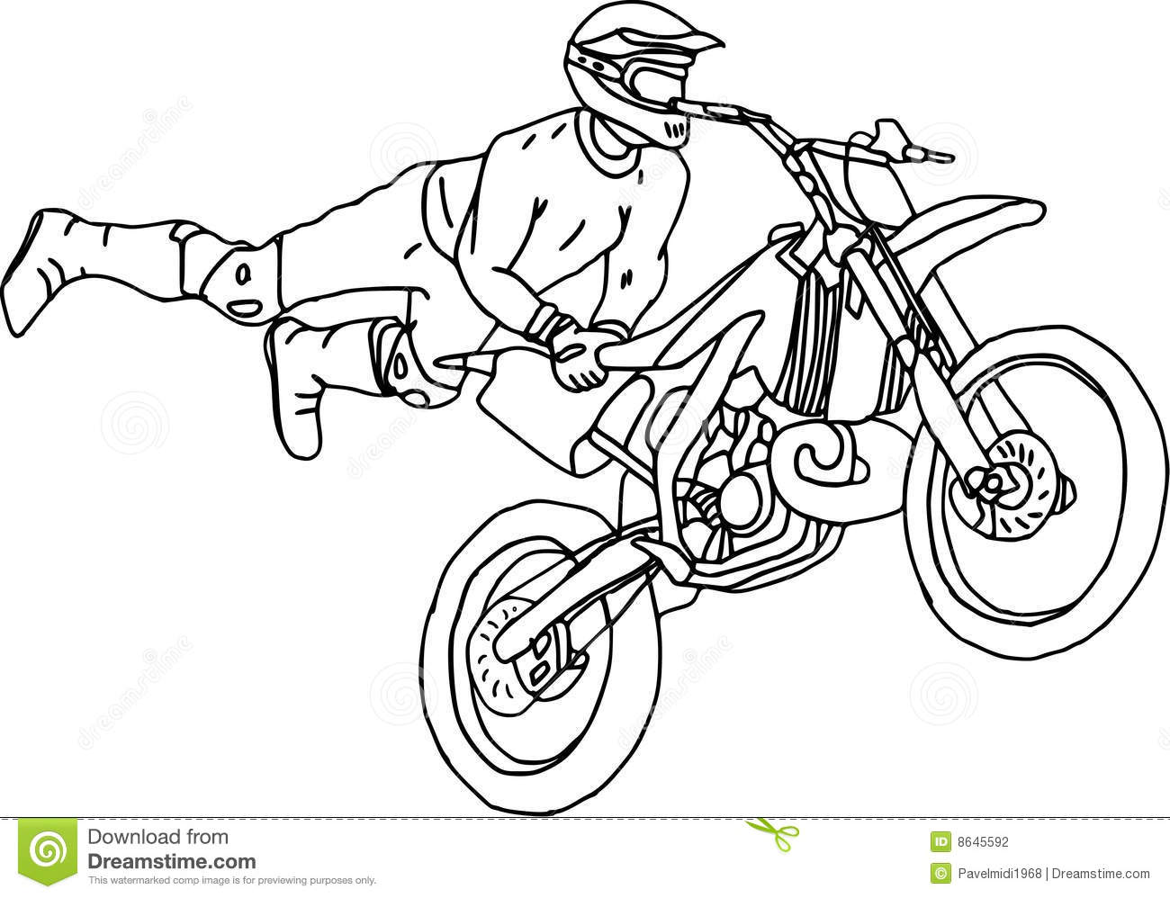 Moto Freestyle Stock Vector Illustration Of Cross Bike