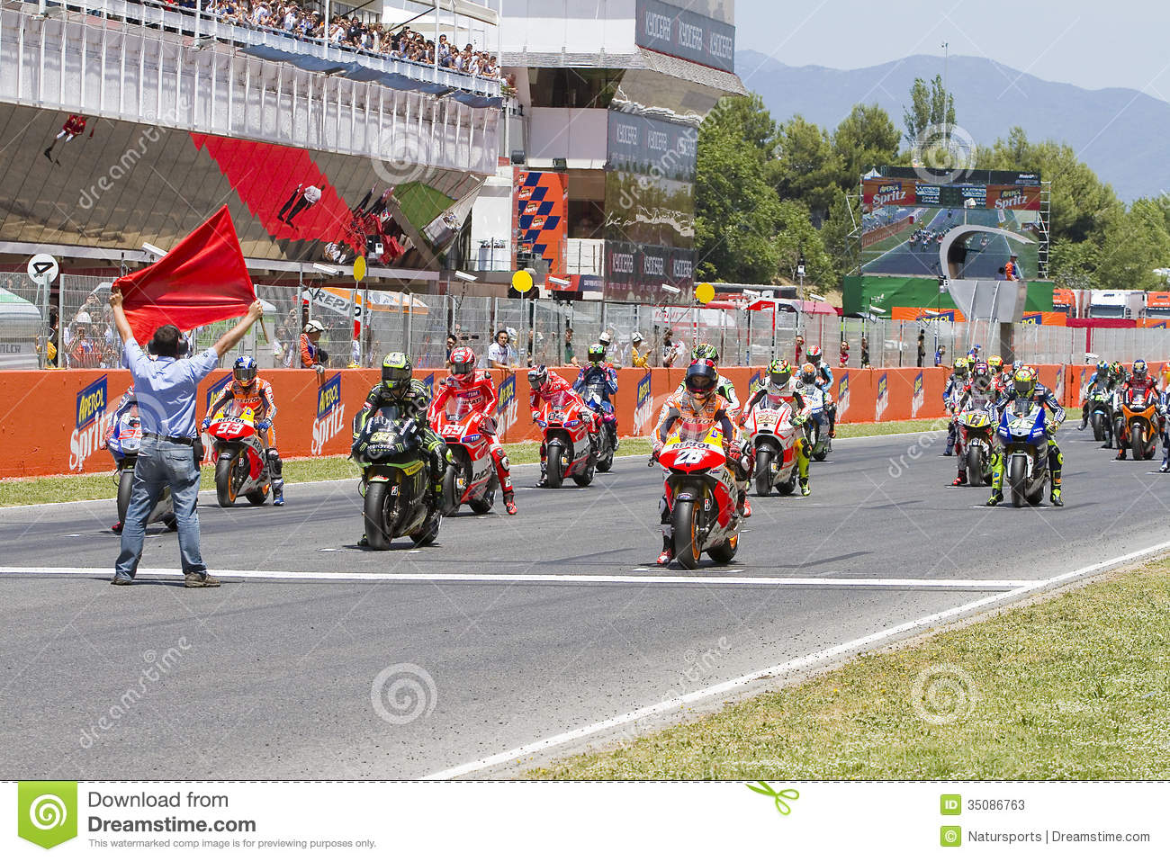 moto gp starting grid editorial stock photo image 35086763. Black Bedroom Furniture Sets. Home Design Ideas
