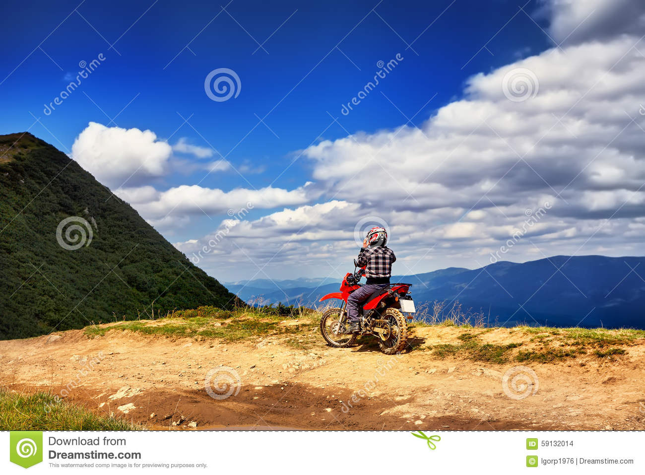 moto racers riding on mountainous road drive a motorcycle stock photo image 59132014. Black Bedroom Furniture Sets. Home Design Ideas