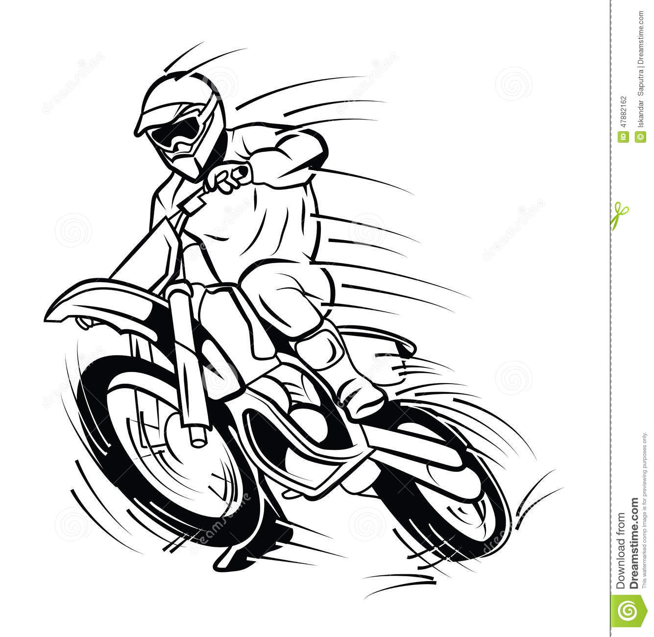 Moto Trail Stock Vector Illustration Of Bike Motorcycle 47882162