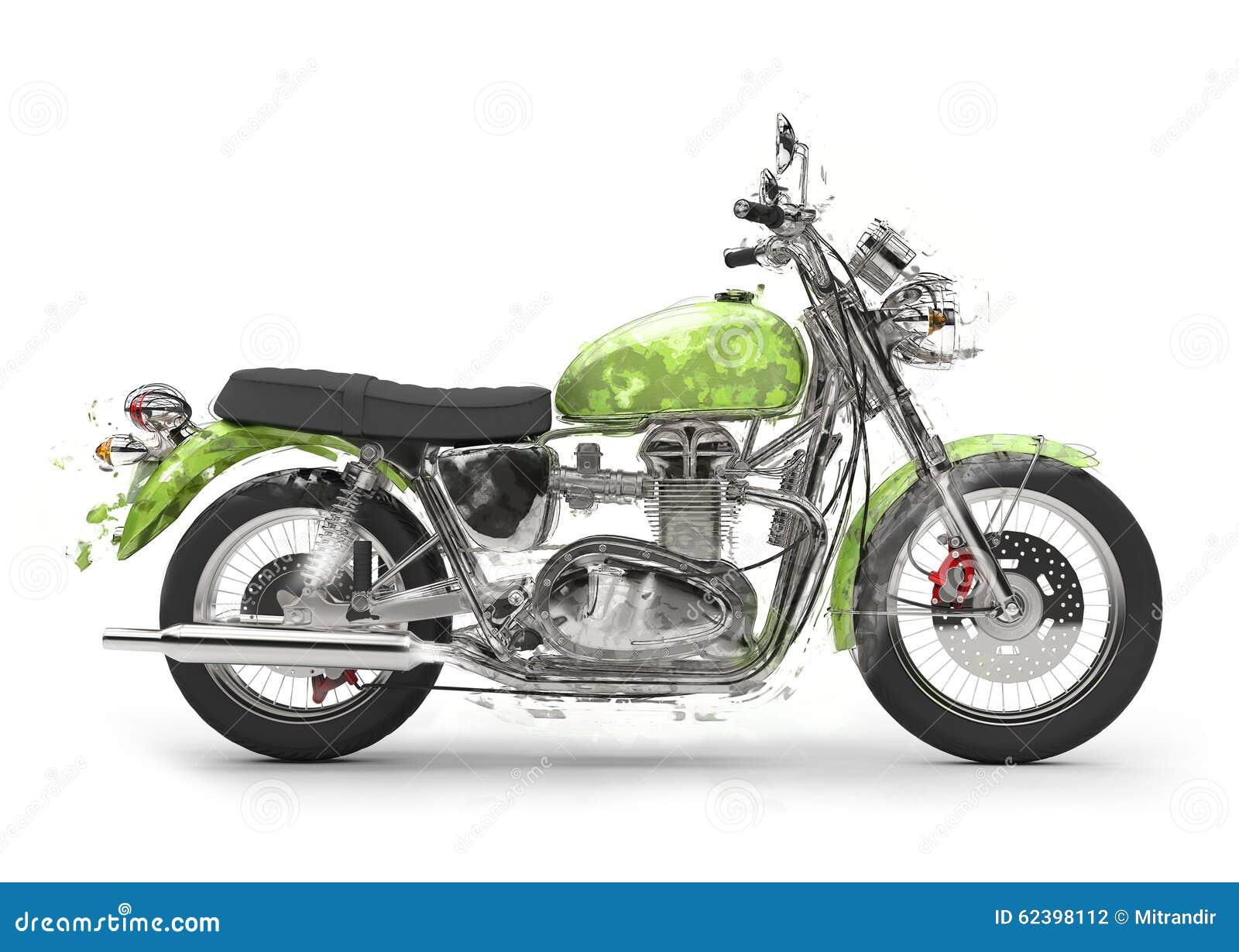 moto verte dessin illustration stock image 62398112. Black Bedroom Furniture Sets. Home Design Ideas