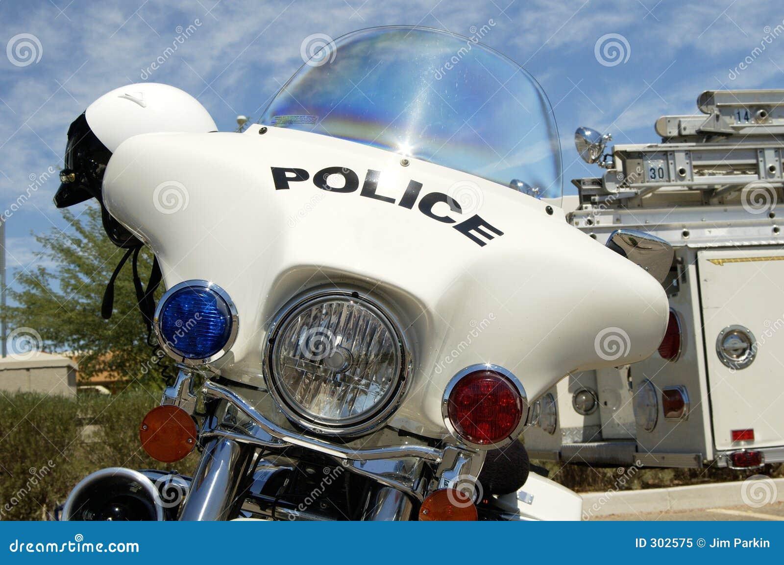 Motocicleta da polícia.