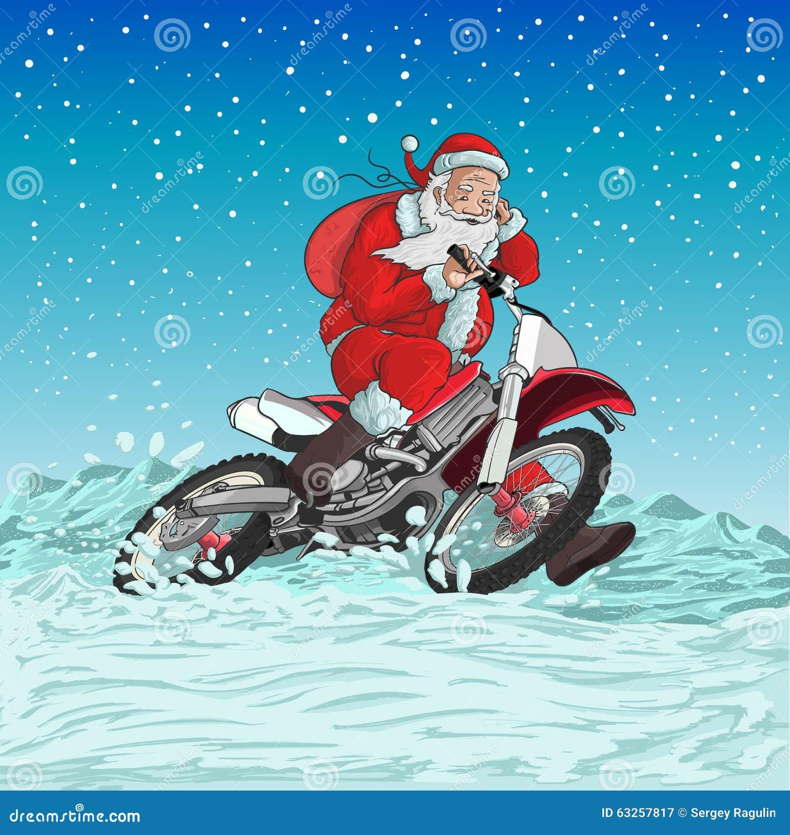 Motocicleta de Papá Noel
