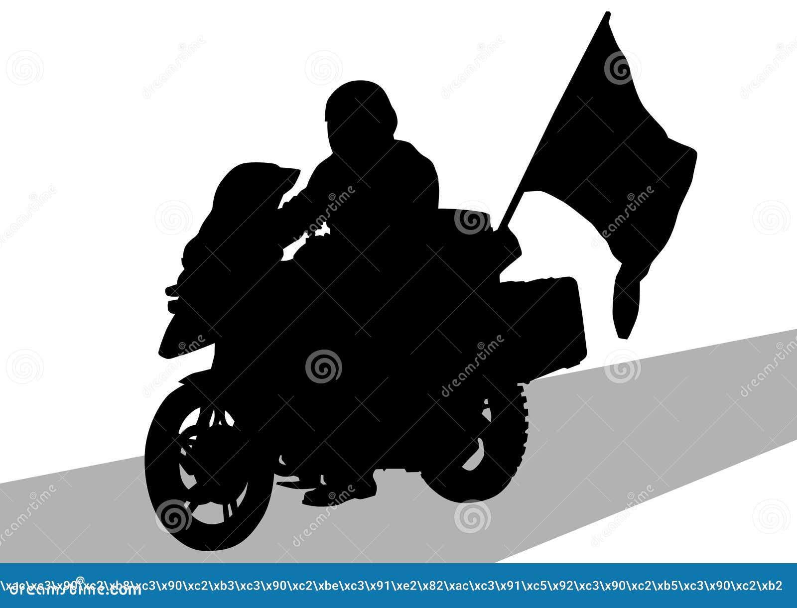 Motocicleta e bandeira