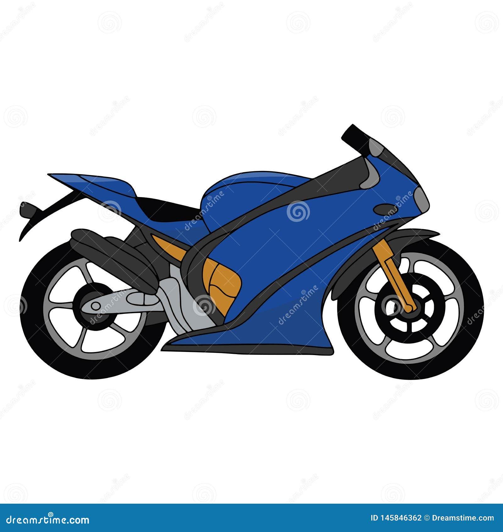 Motocicleta em um fundo branco