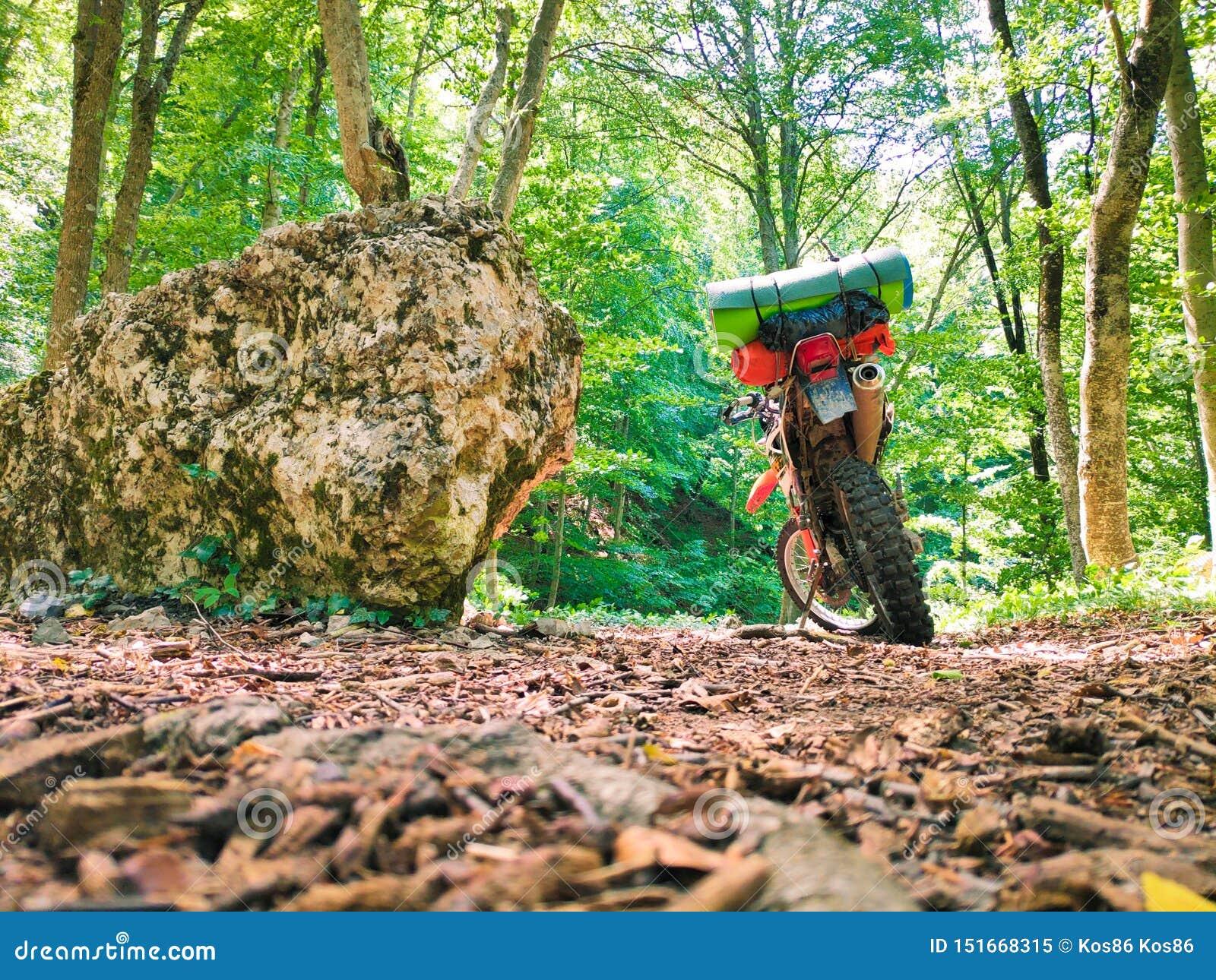 Motocicleta que est? nas madeiras