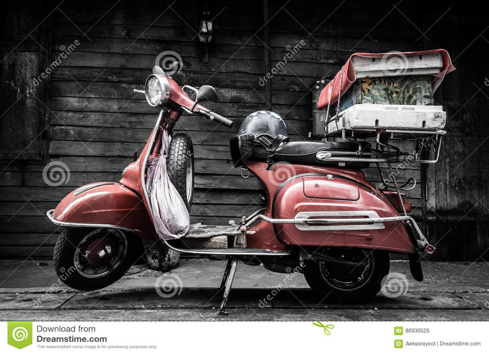 Motocicleta velha clássica do estilo do vintage da forma