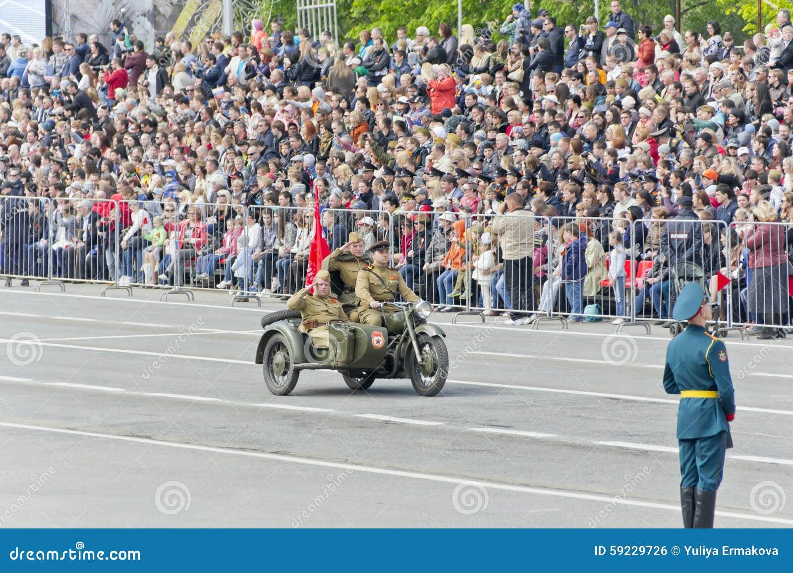 Download Motocicletas Militares Rusas En El Desfile En Victory Day Anual Foto editorial - Imagen de soldado, balístico: 59229726