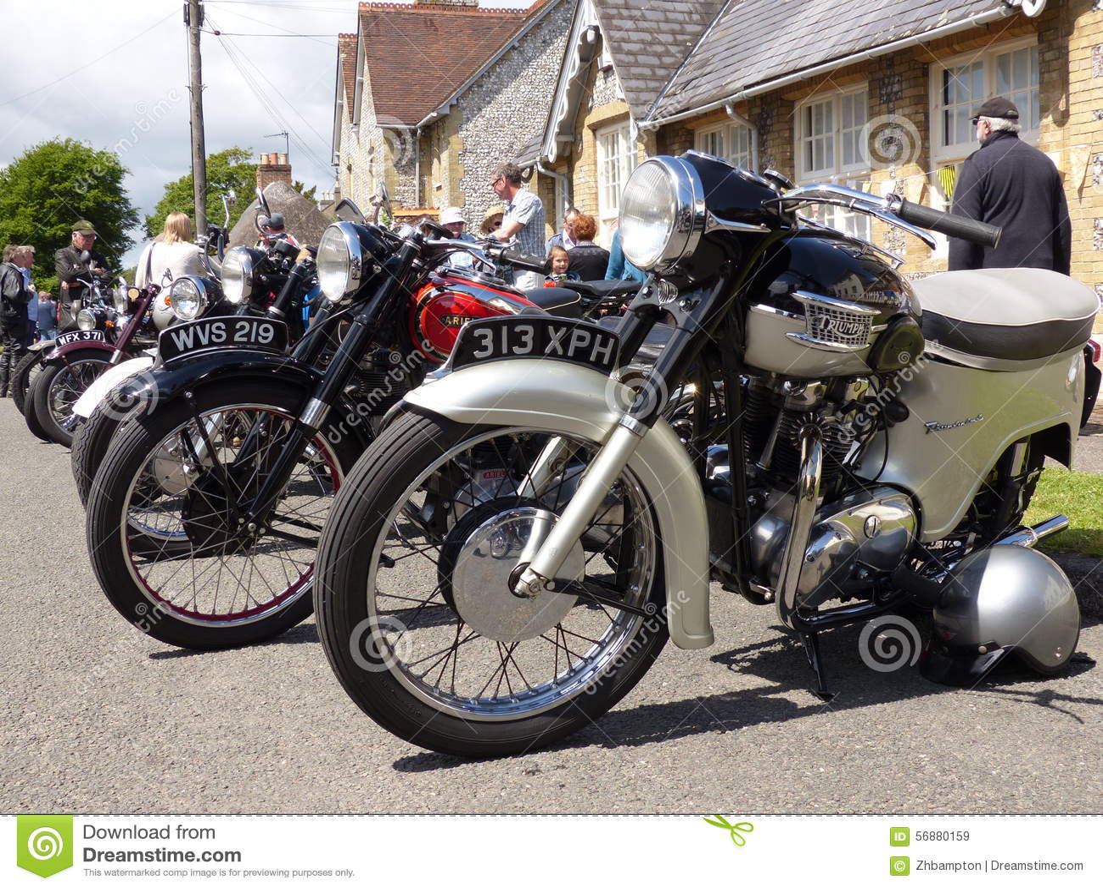 Motociclette classiche sulla manifestazione