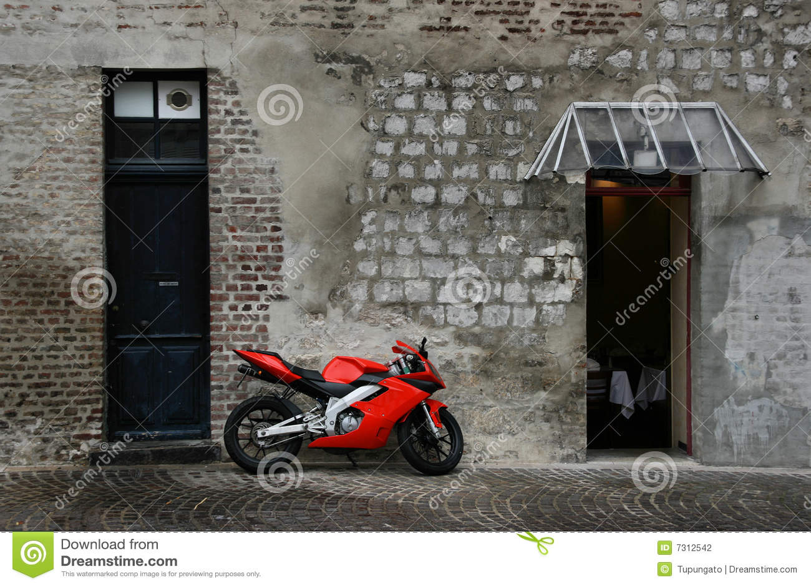 Motociclo rosso
