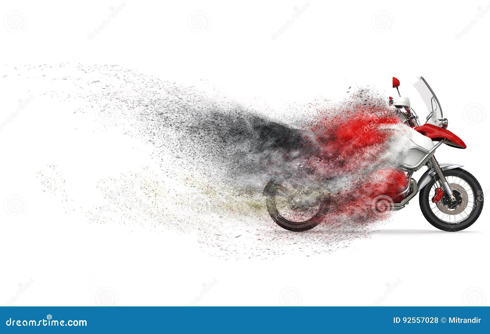 Motociclo rosso e bianco fresco - spolveri FX