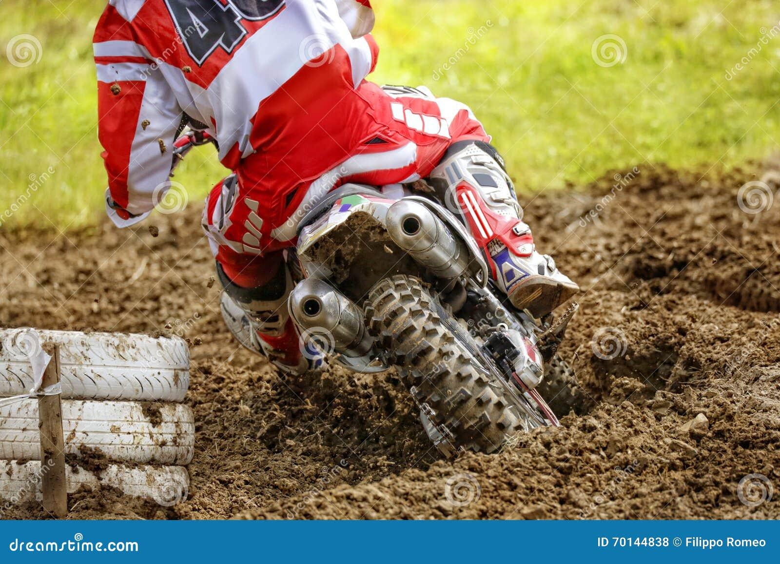 Enduro Bike Rider On Dirt Track Stock Photo - Image of