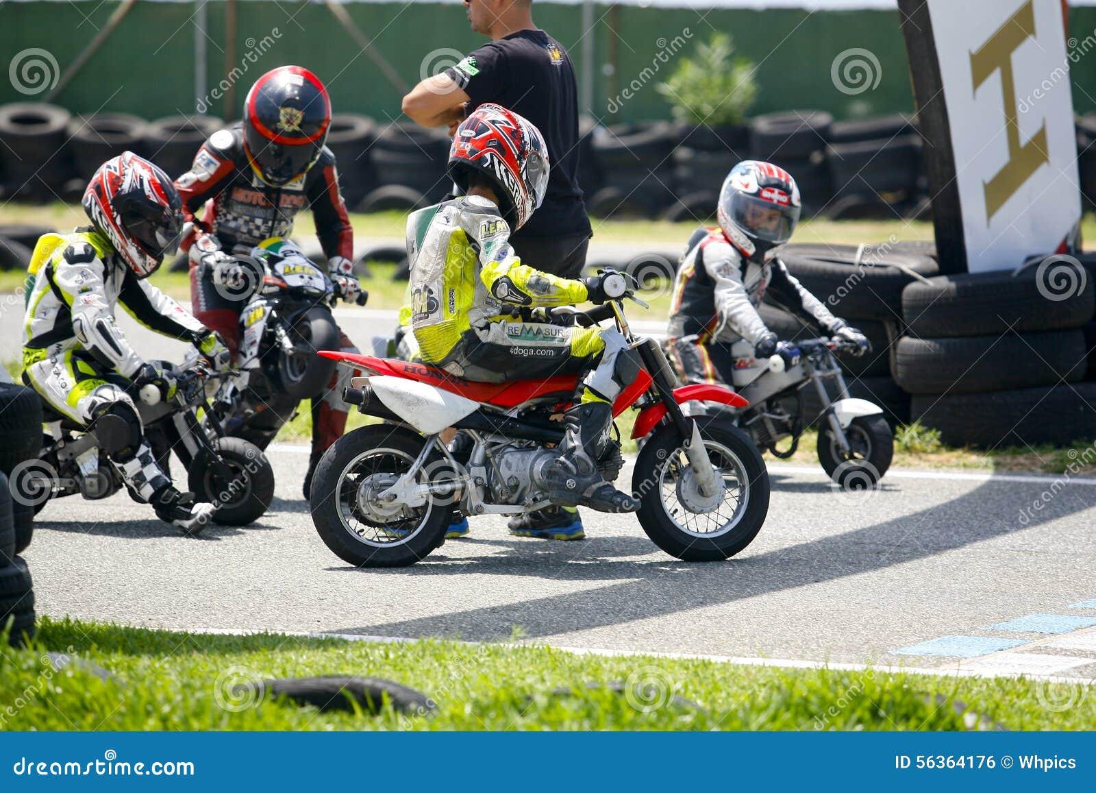 Motocross children bikers editorial photo. Image of fast - 56364176