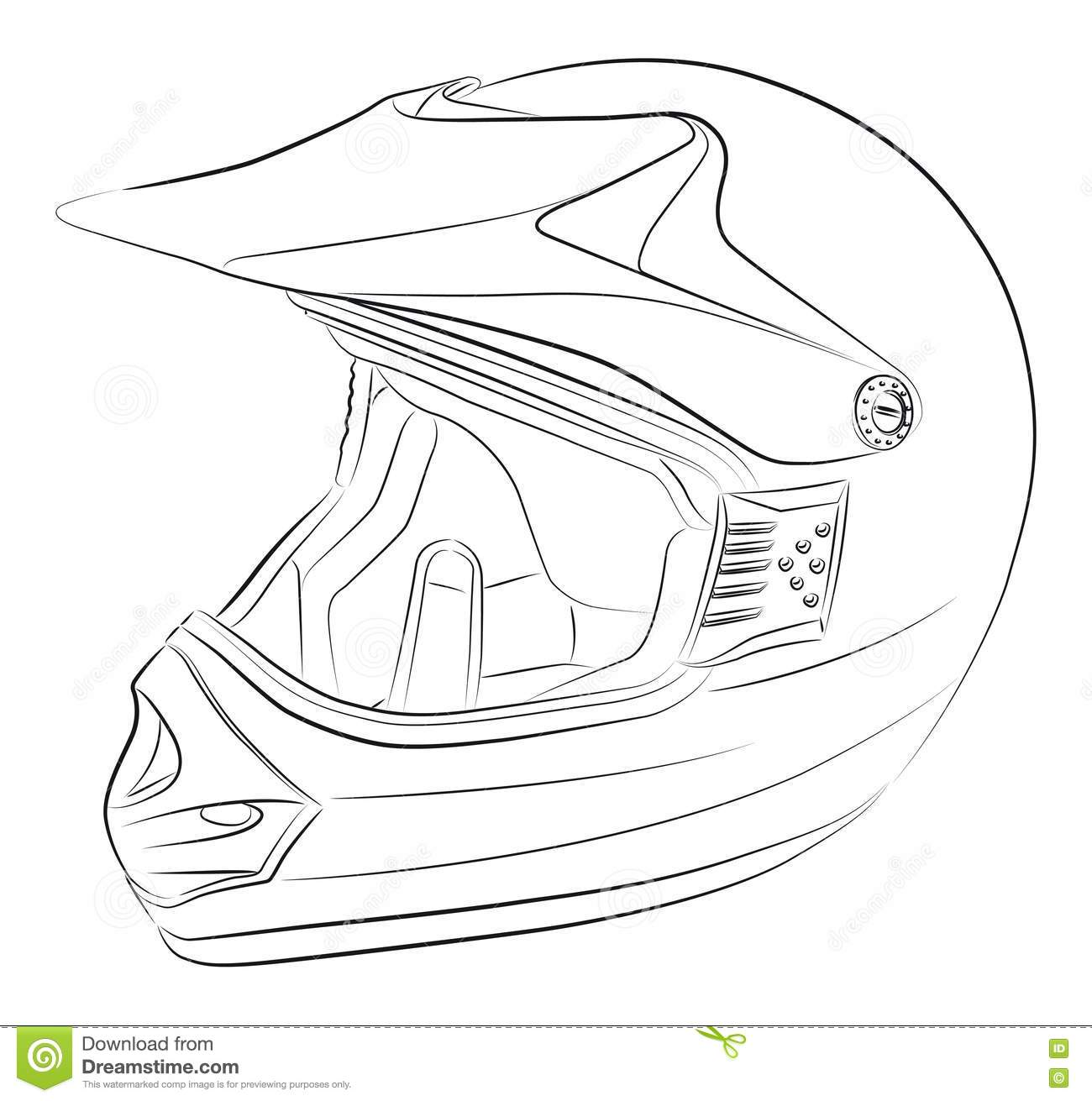 how to draw on motorcycle helmet
