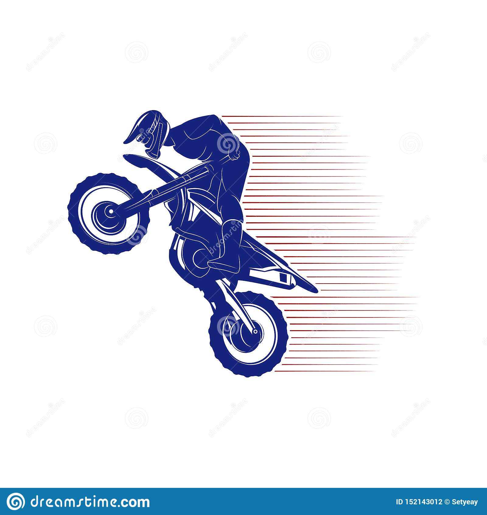 Motocross Jump Logo Vector Motocross Freestyle Vector Motocross Vector Illustration Stock Vector Illustration Of Bike Action 152143012